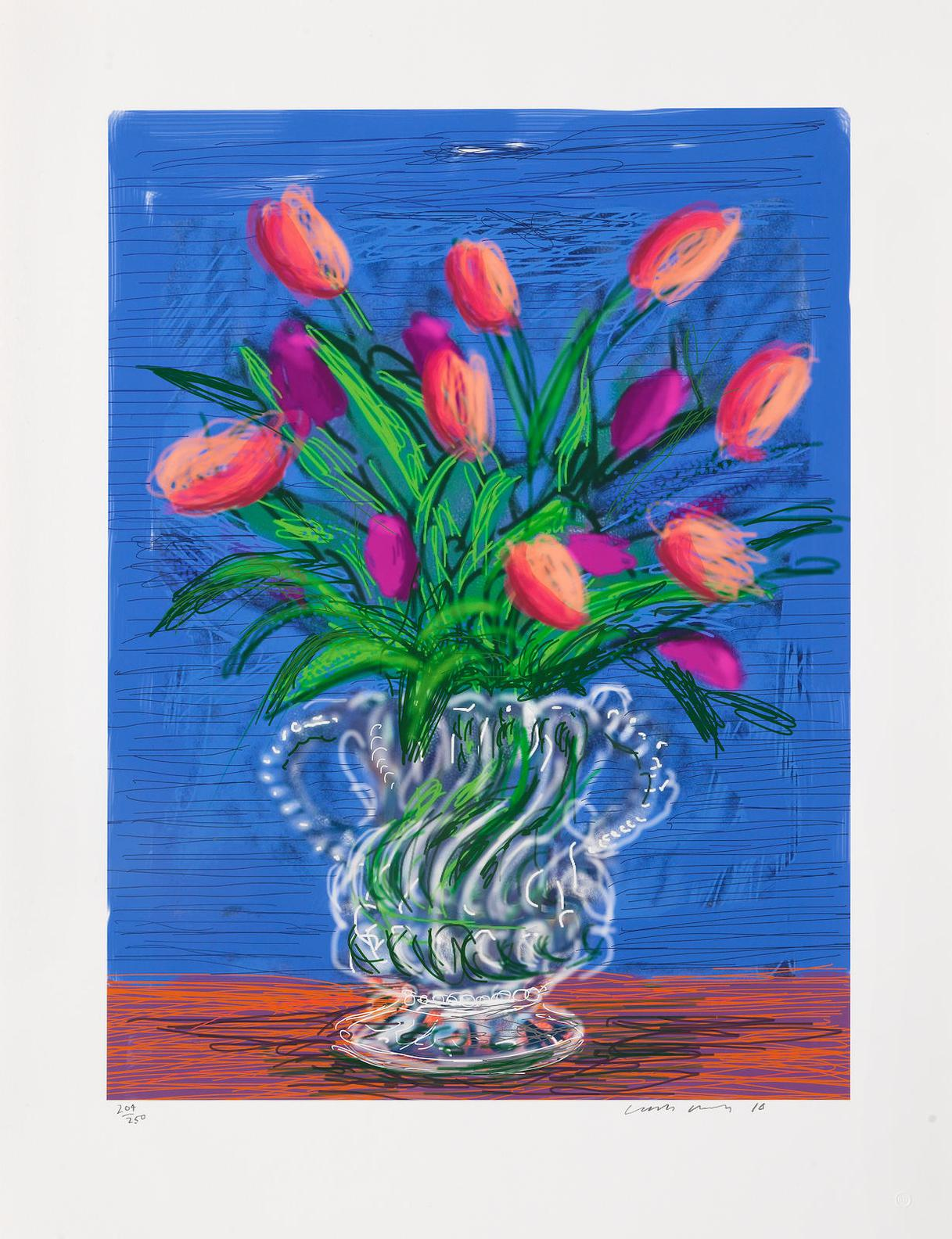 David Hockney-Untitled No.346, From A Bigger Book: Art Edition B-2016