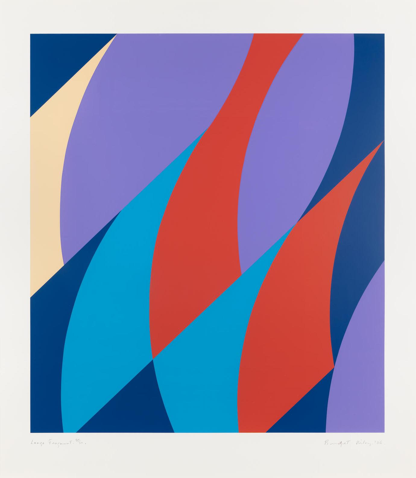 Bridget Riley-Large Fragment (Schubert 64)-2006