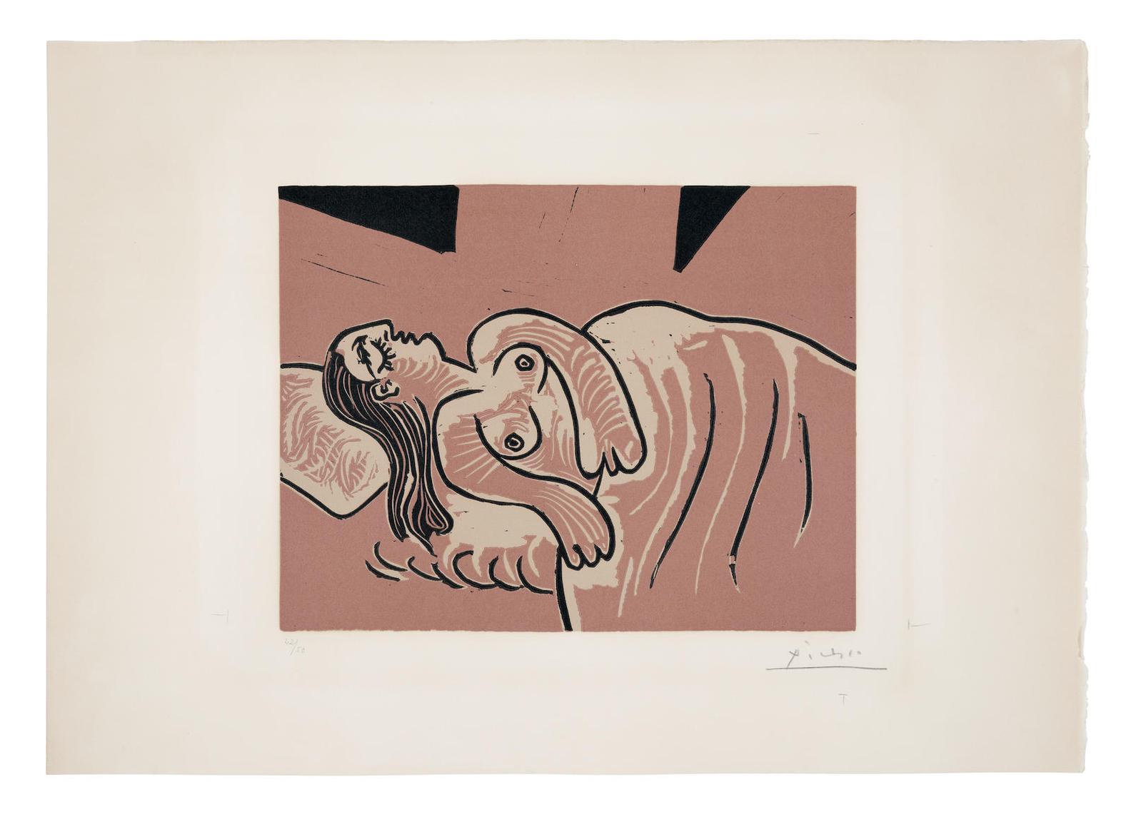 Pablo Picasso-Femme Endormie (Bloch 1083; Baer 1319 IV.B.A)-1962