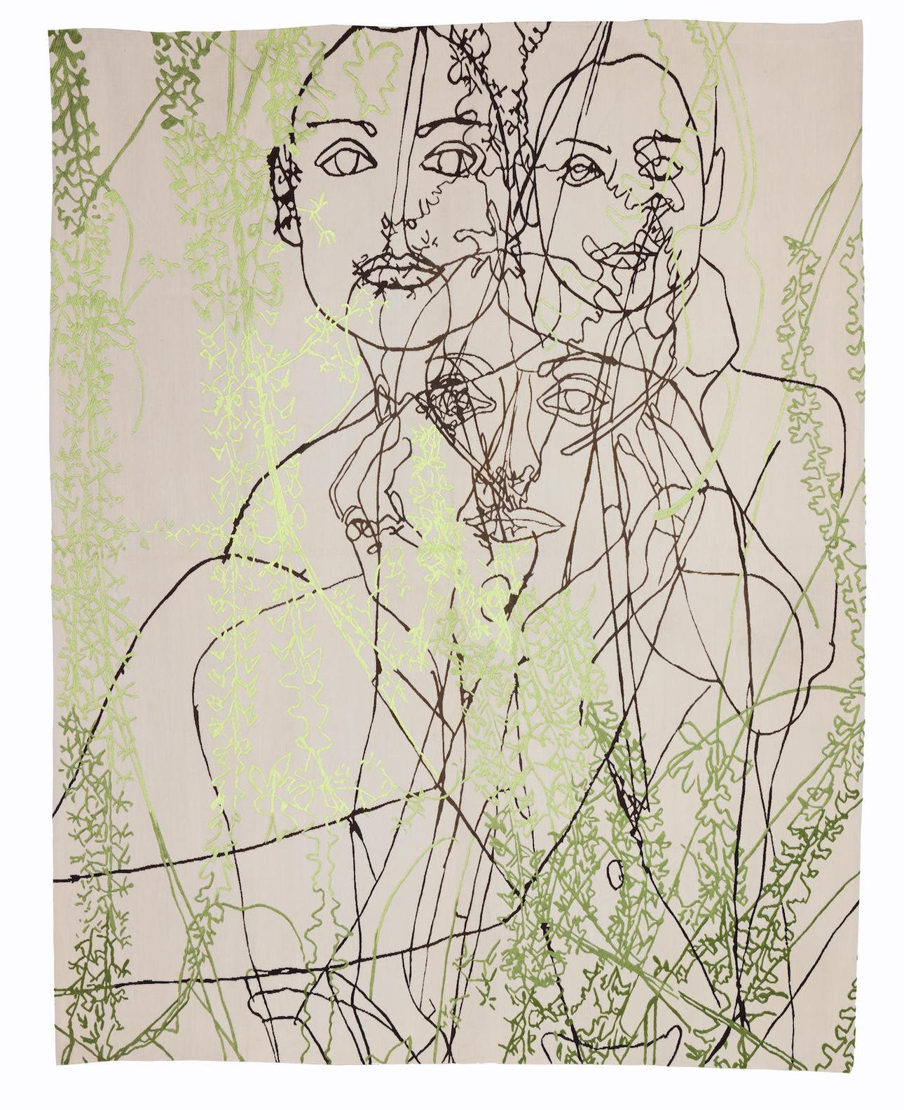 Gary Hume-Georgie And Orchids-2008