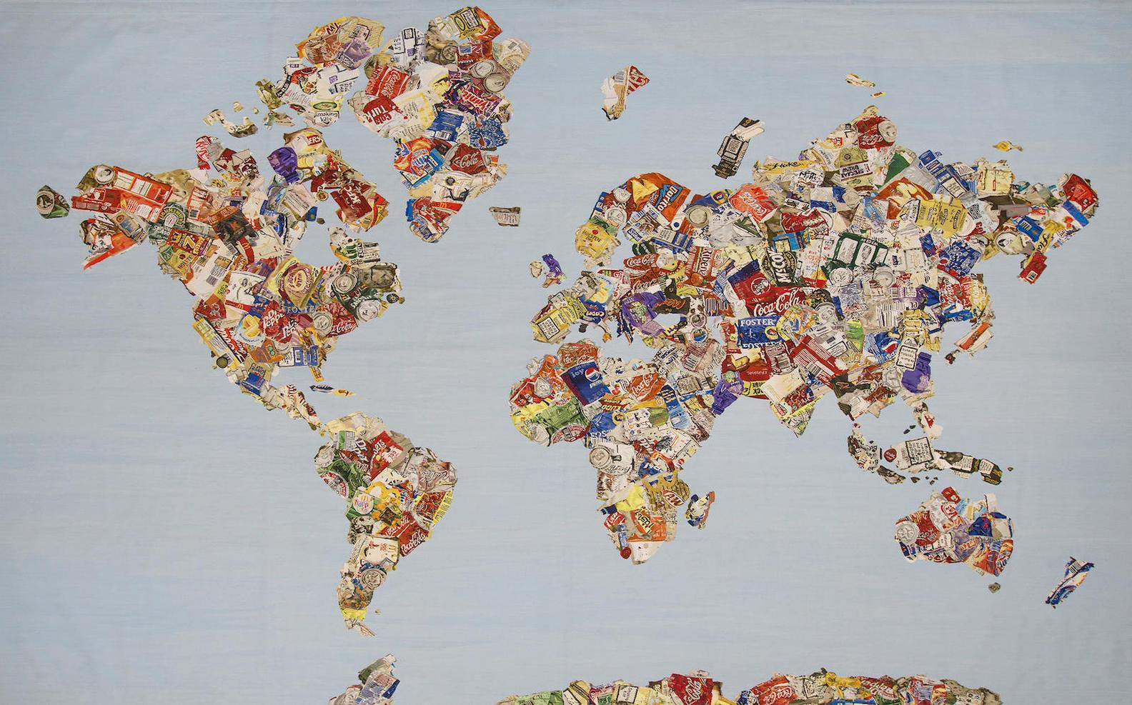 Gavin Turk-Mappa Del Mondo-2008