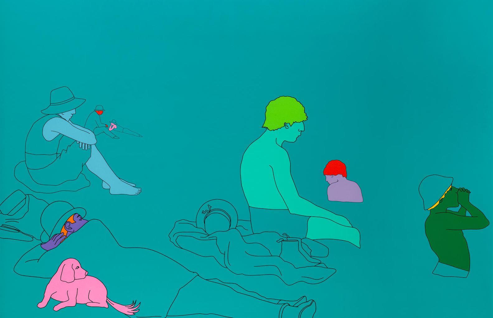 Michael Craig-Martin-Deconstructing Seurat (Turquoise Green)-2004