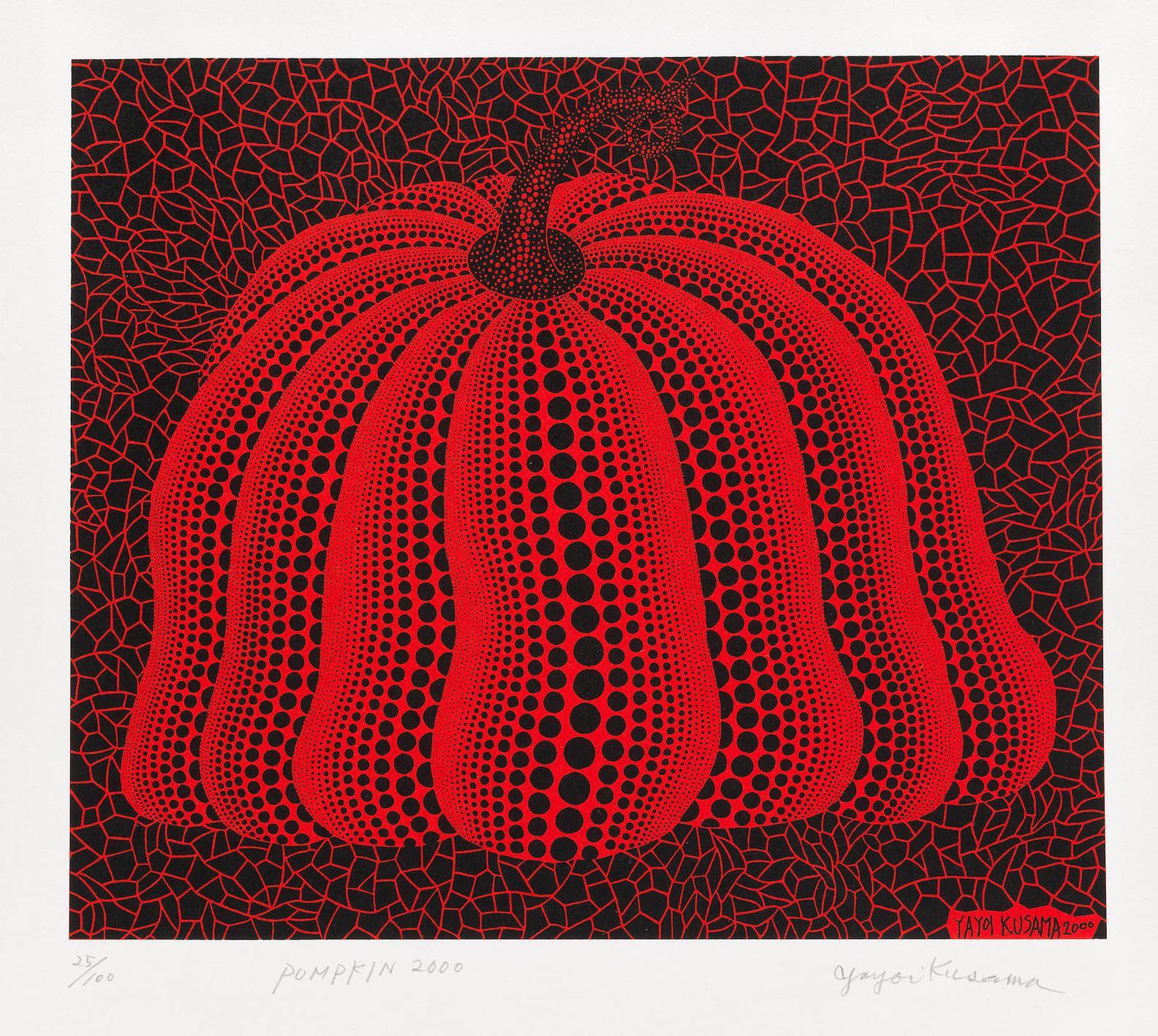 Yayoi Kusama-Pumpkin 2000 (Red) (Kusama 299)-2000