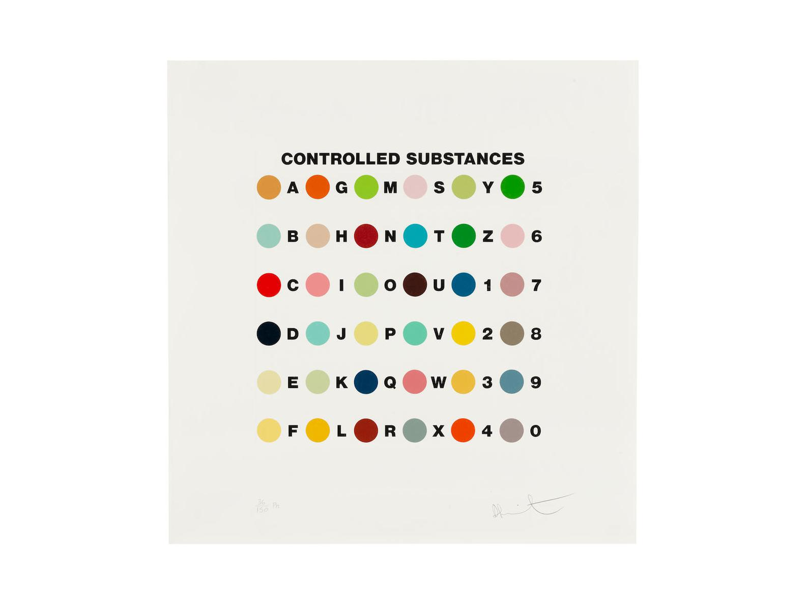 Damien Hirst-Controlled Substances Key Spot-2011