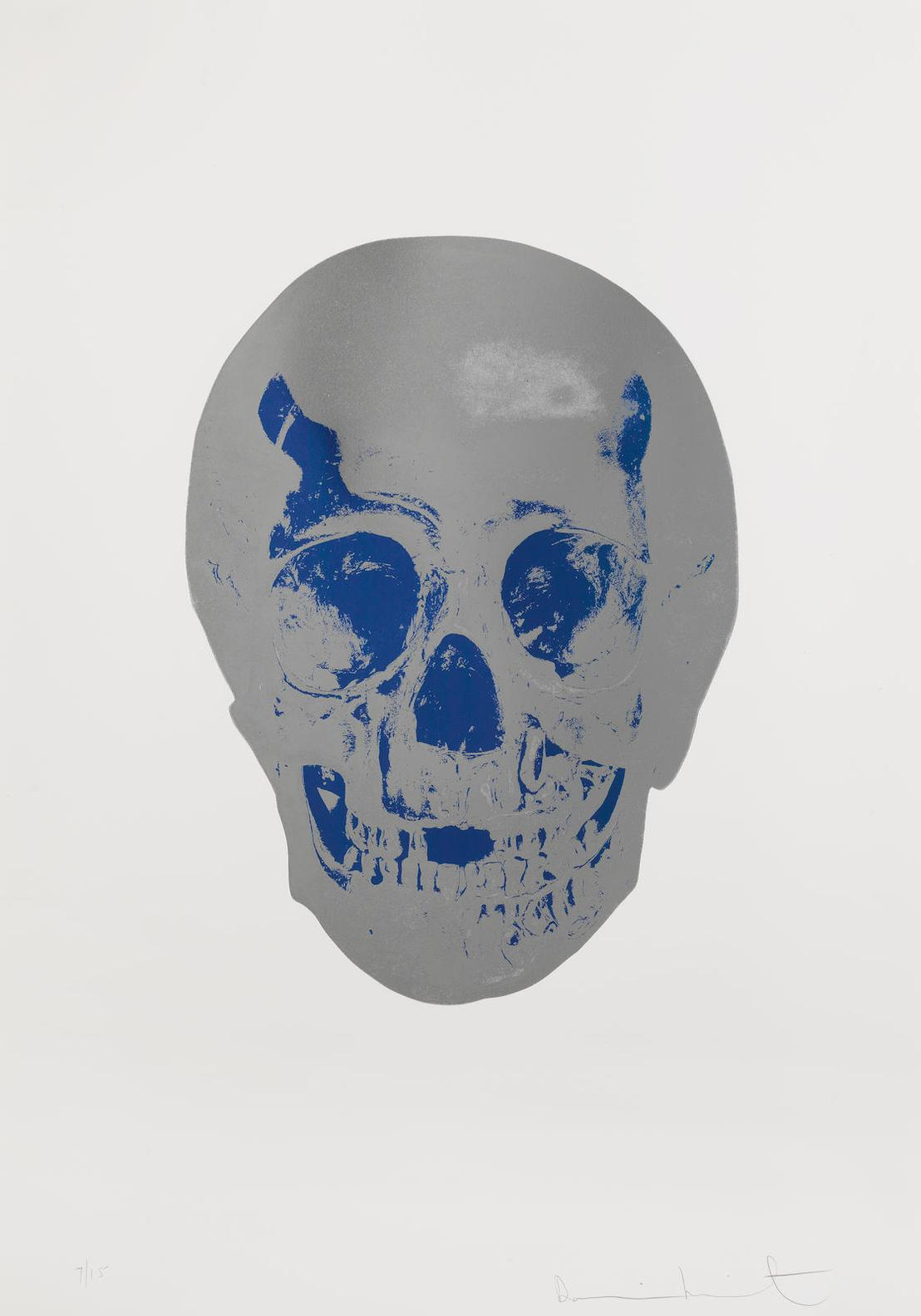 Damien Hirst-The Dead (Silver Gloss/Turquoise)-2009