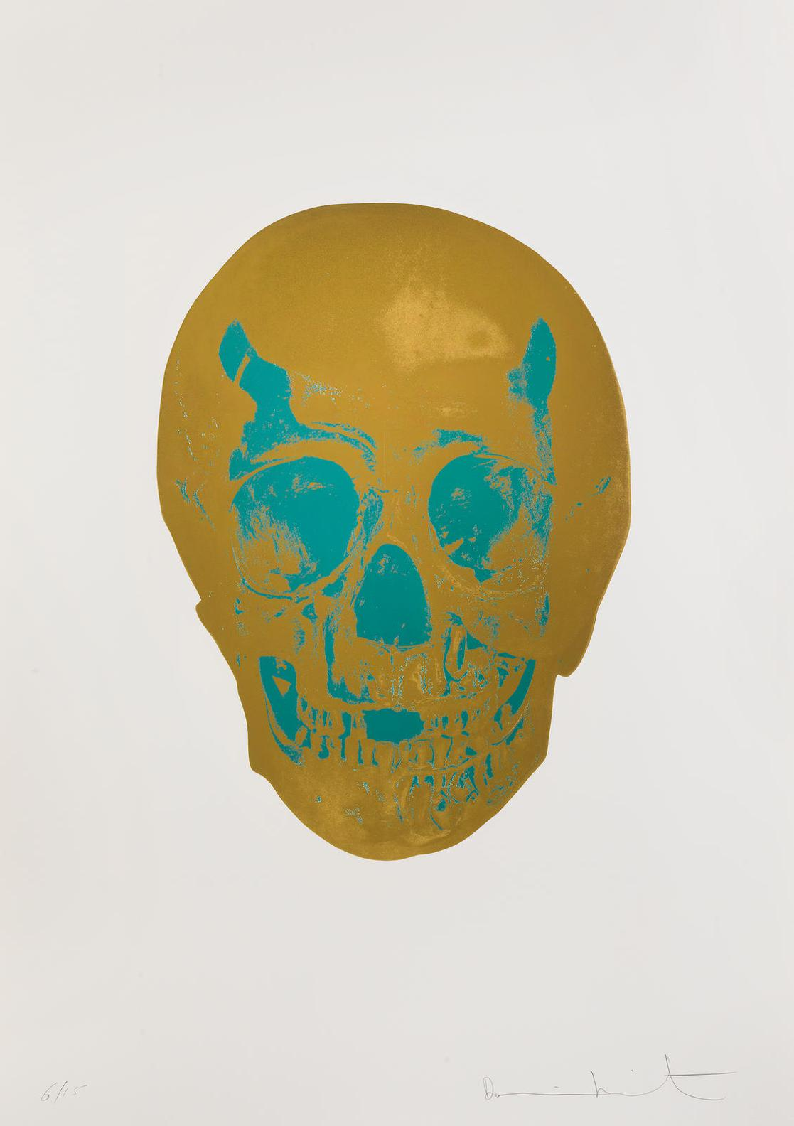 Damien Hirst-The Dead (Gold Gloss/Turquoise)-2009