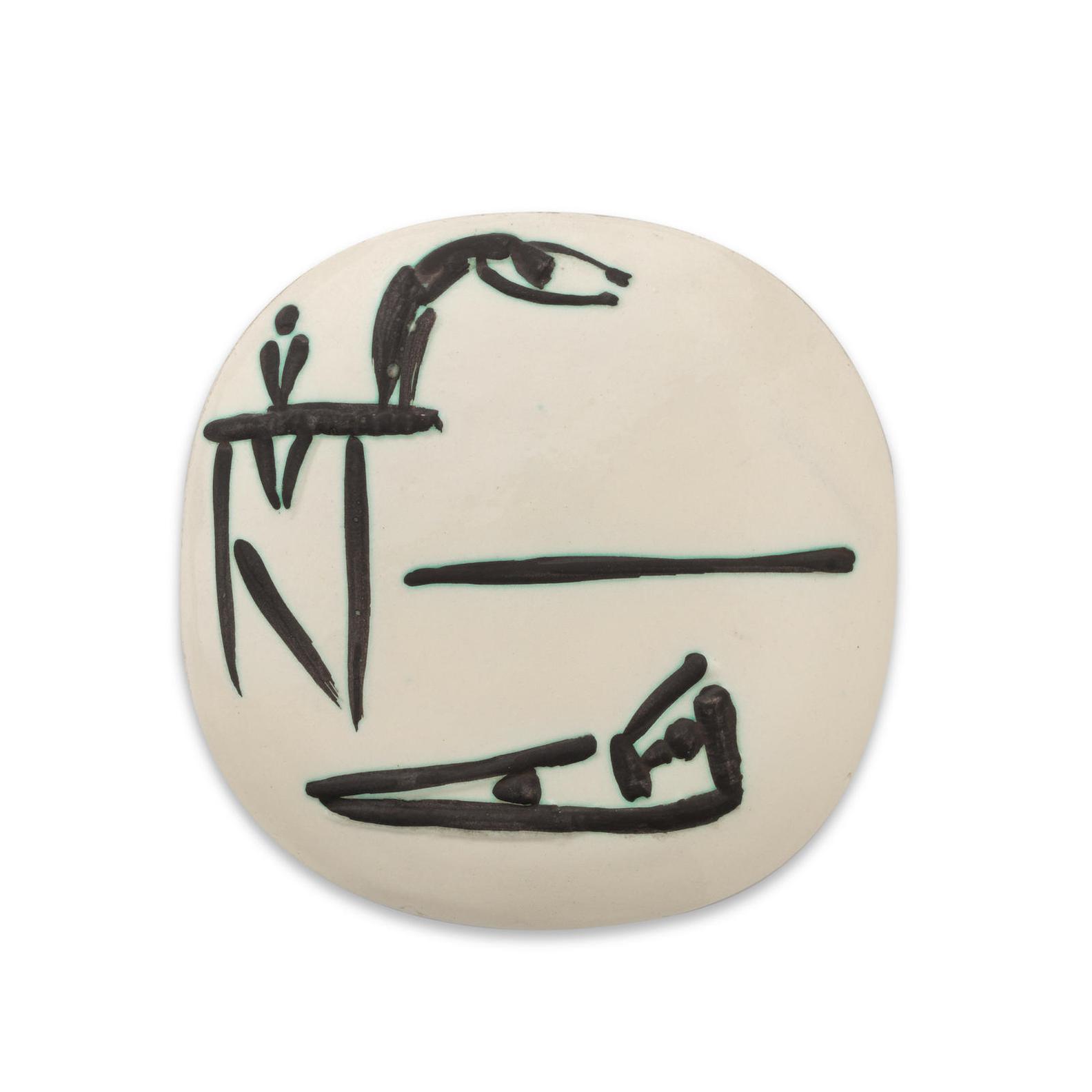 Pablo Picasso-Plongeurs (Ramie 377)-1956