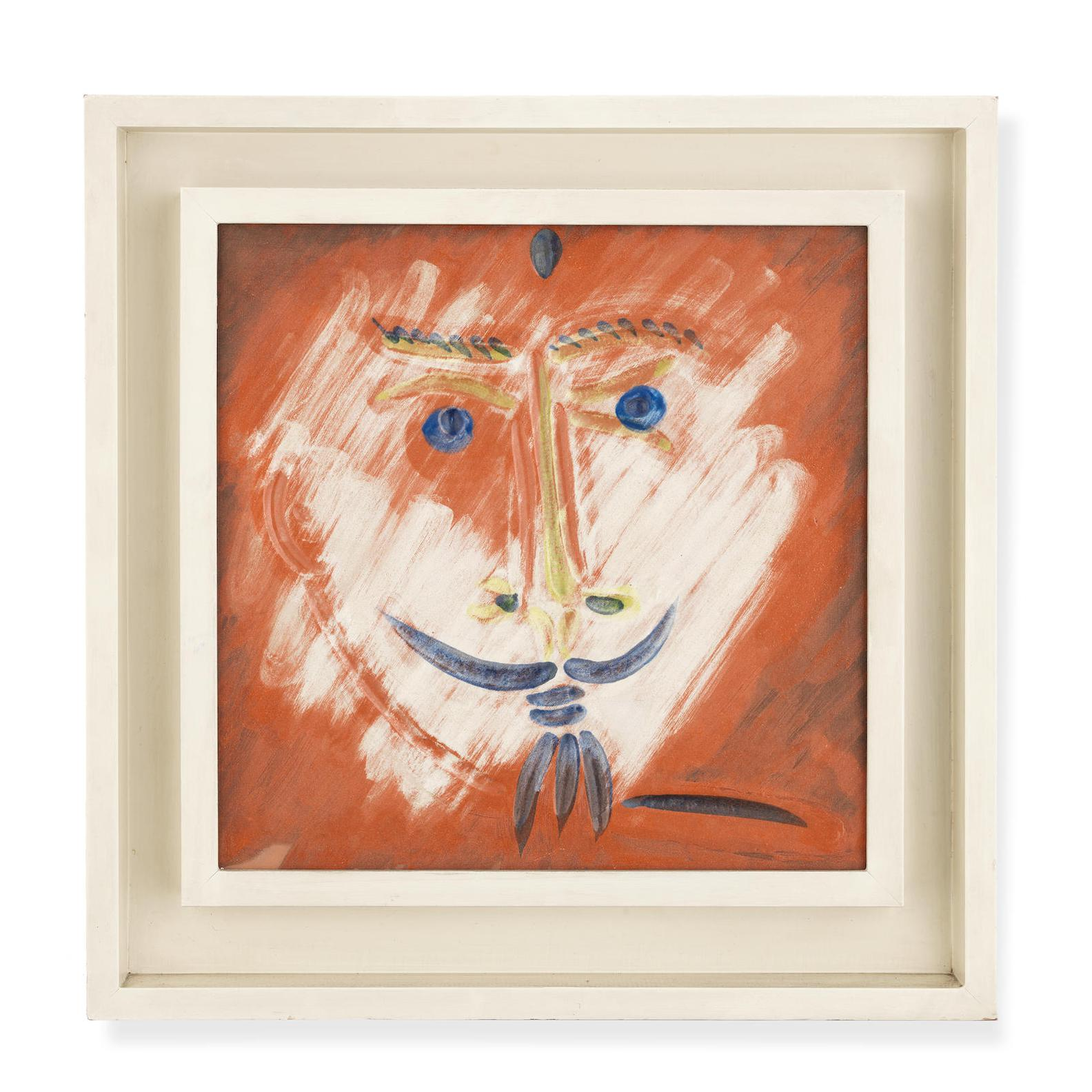 Pablo Picasso-Visage A La Barbiche(Ramie 601)-1969