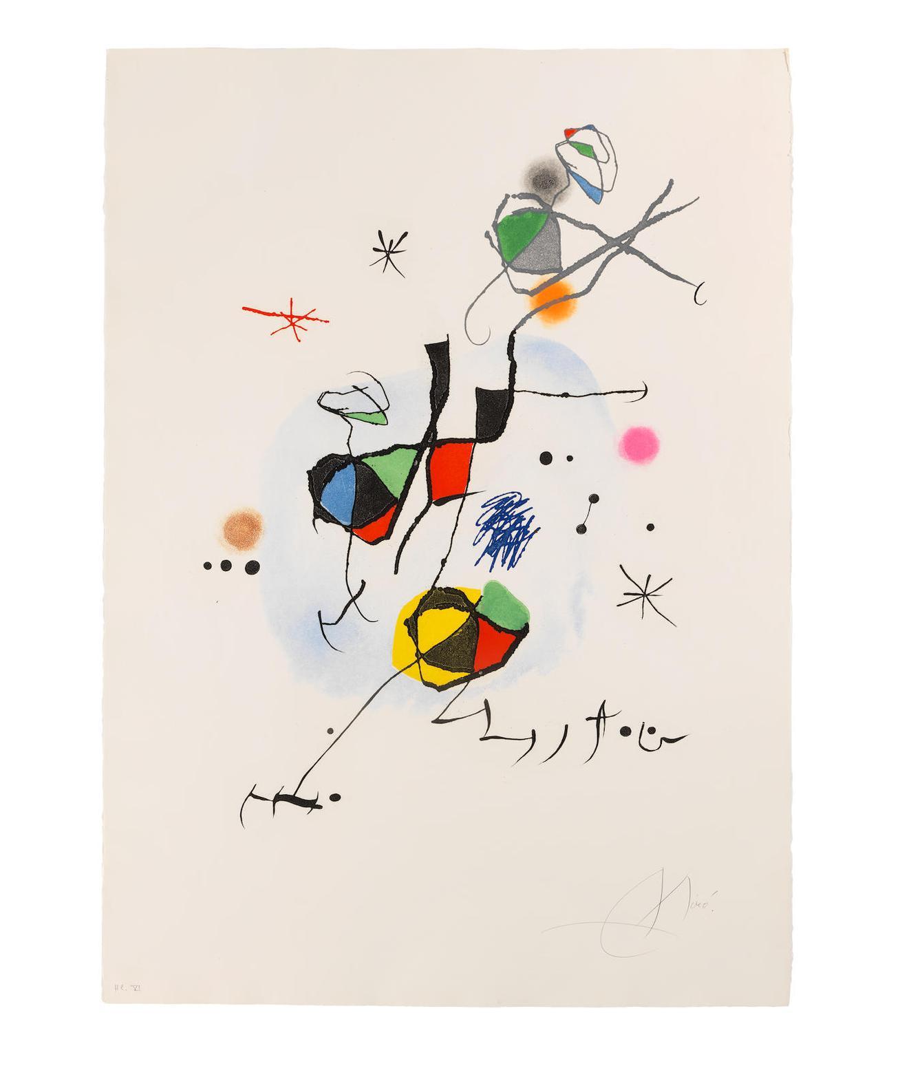 Joan Miro-Els Castellers (Dupin 647)-1974