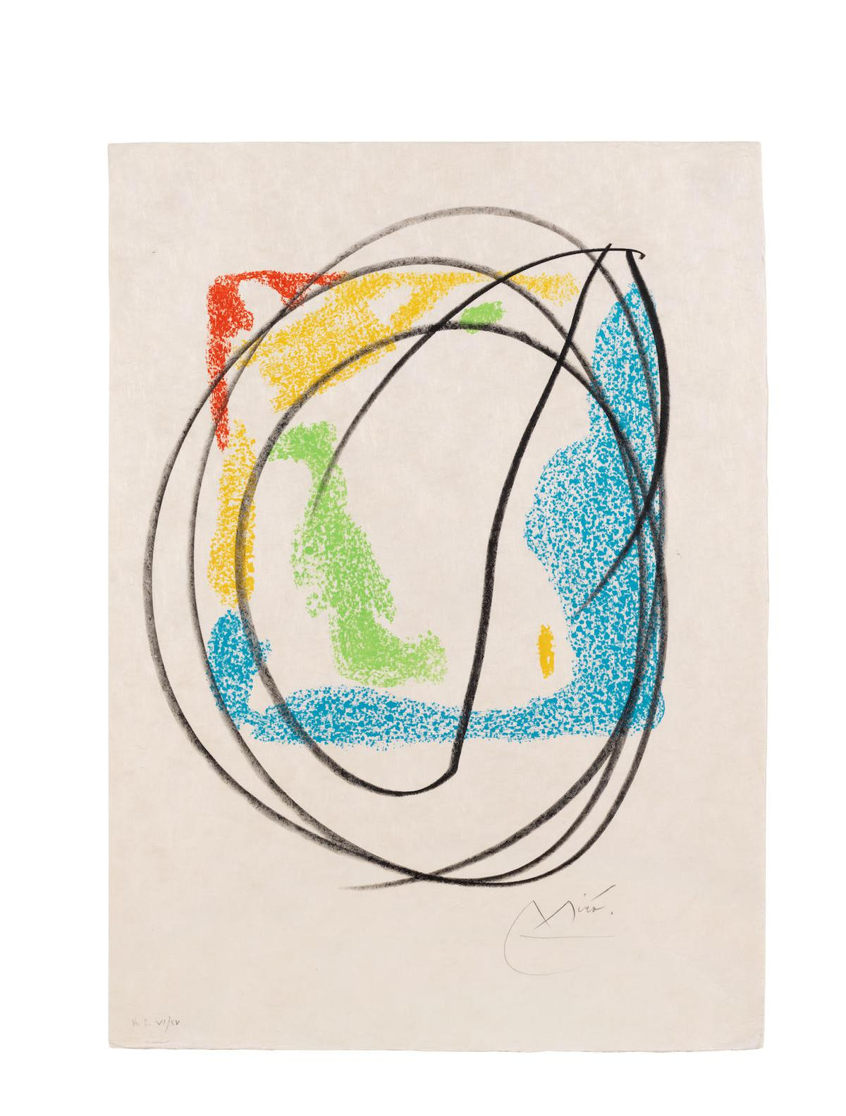 Joan Miro-One Plate, From Les Essencies De La Terra (Mourlot 580;Cramer Books 123)-1968