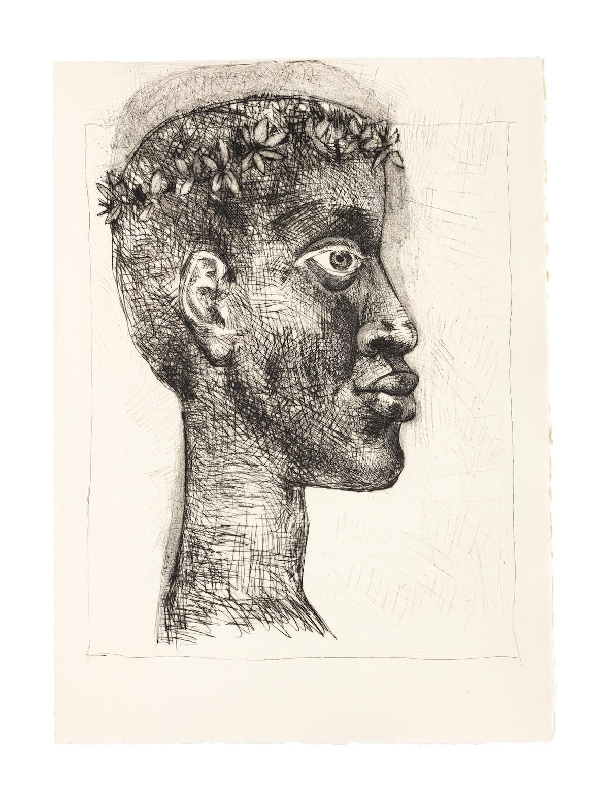 Pablo Picasso-Aime Cesaire, Corps Perdu, Editions Fragrance, Paris, 1950 (Cramer Books 56; Bloch 632-663; Baer 840-871)-1950