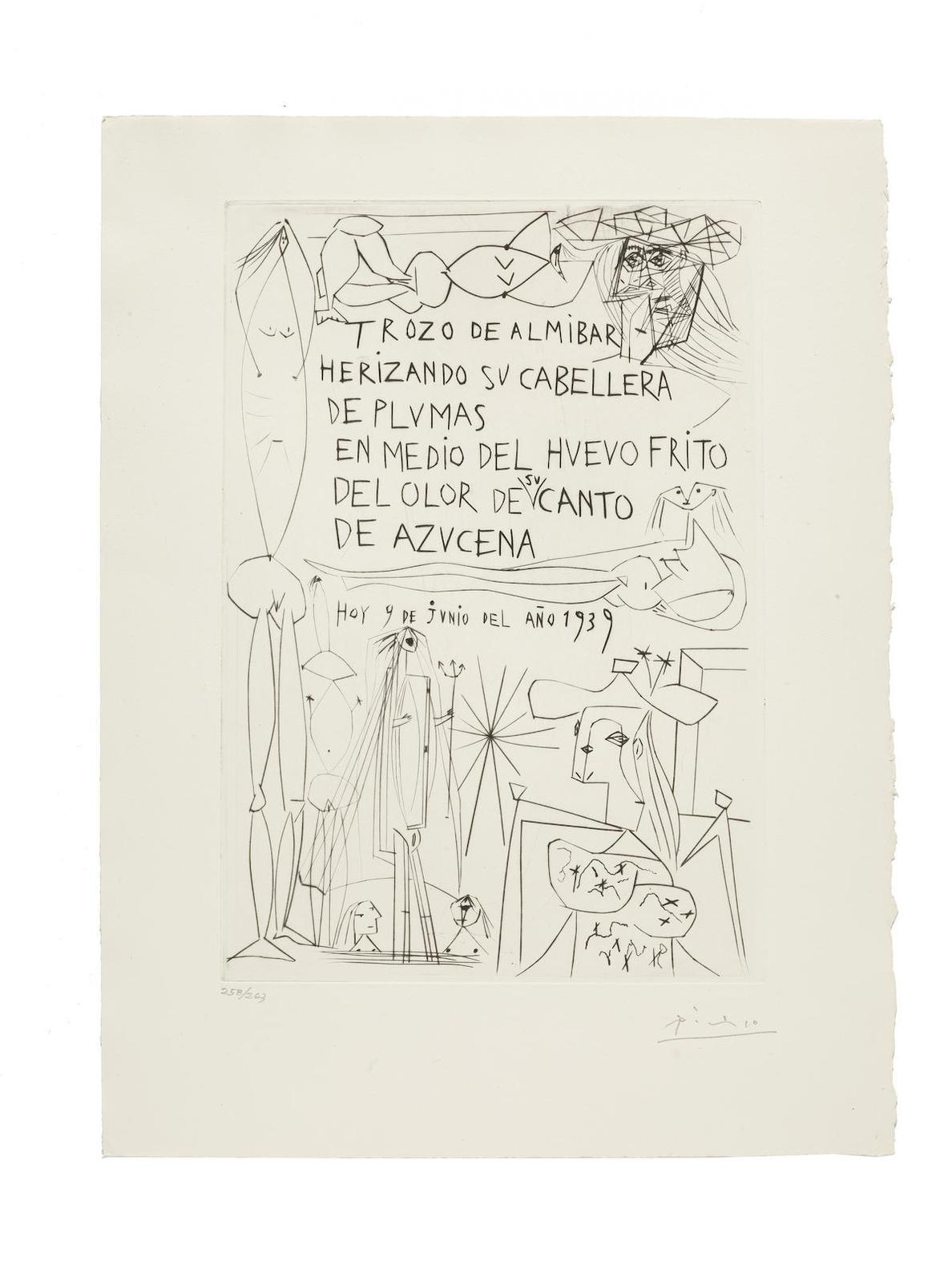 Pablo Picasso-El Entierro Del Conde De Orgaz, Ediciones De La Cometa, Barcelona, 1969 (Cramer Books146; Bloch 1465-1477; Baer 1377-1391)-1969