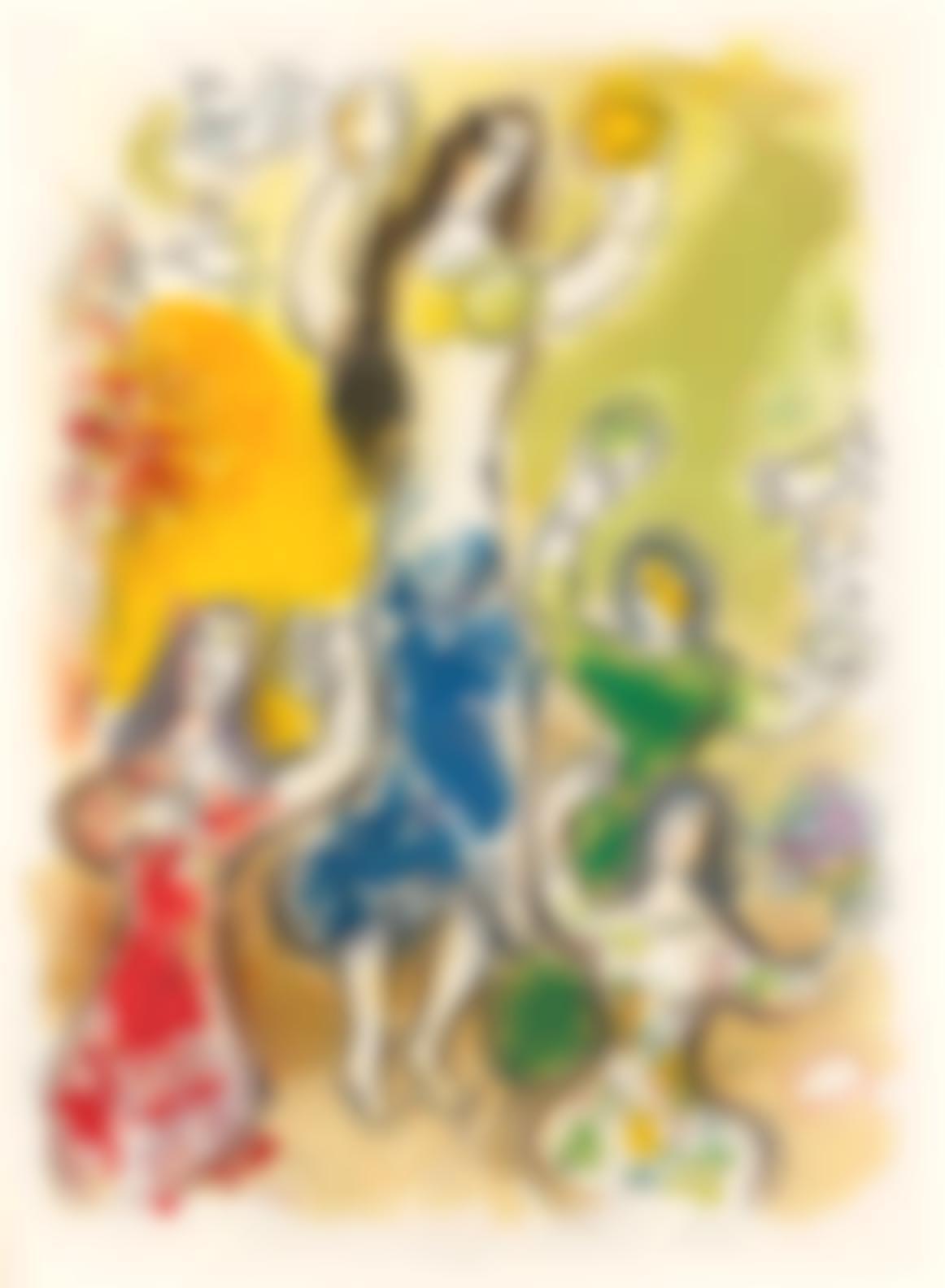 Marc Chagall-The Story Of The Exodus, Leon Amiel, Paris-New York, 1966 (Cramer Books 64; Mourlot 444-467)-1966