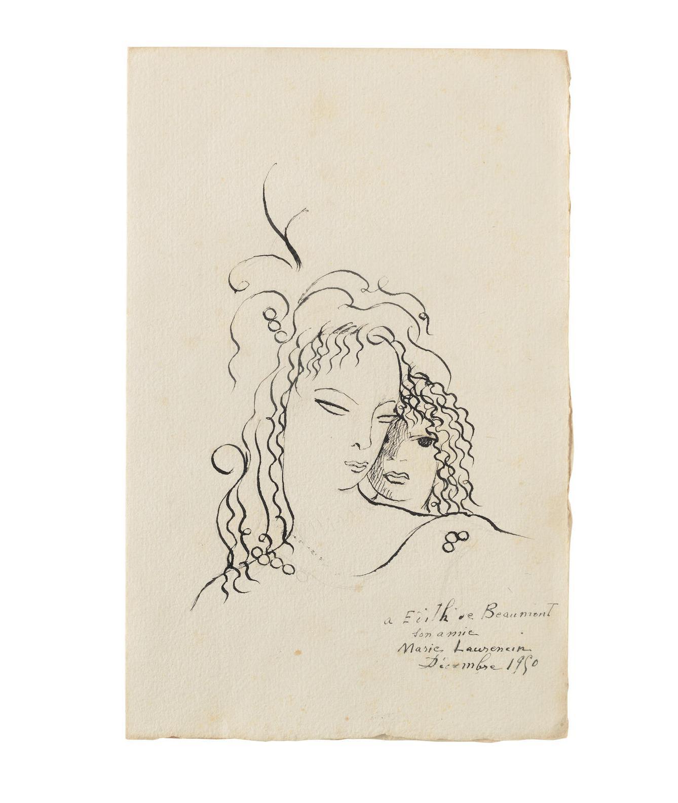 Marie Laurencin-Poemes De Sapho, Compagnie Francaise Des Arts Graphiques, Paris, 1950-1950