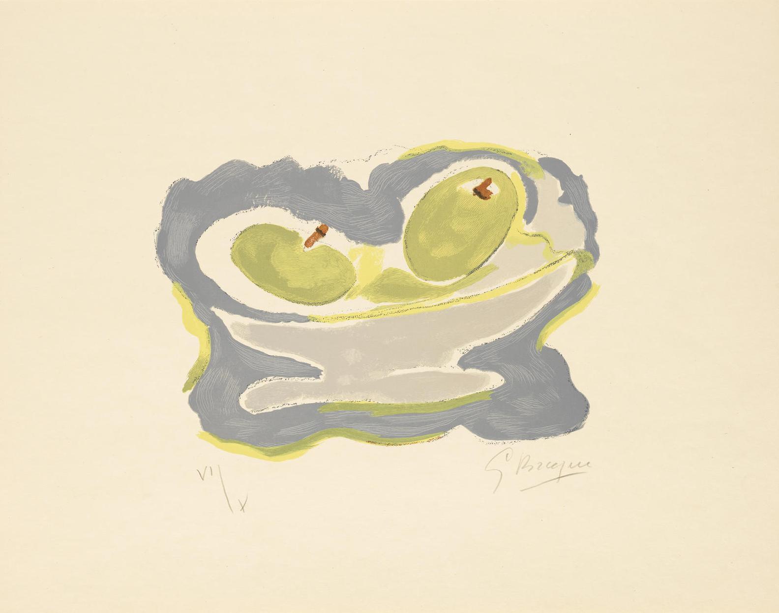 Georges Braque-Guillaume Apollinaire, Si Je Mourais La-Bas, Louis Broder, Paris, 1962(Vallier 181)-1962