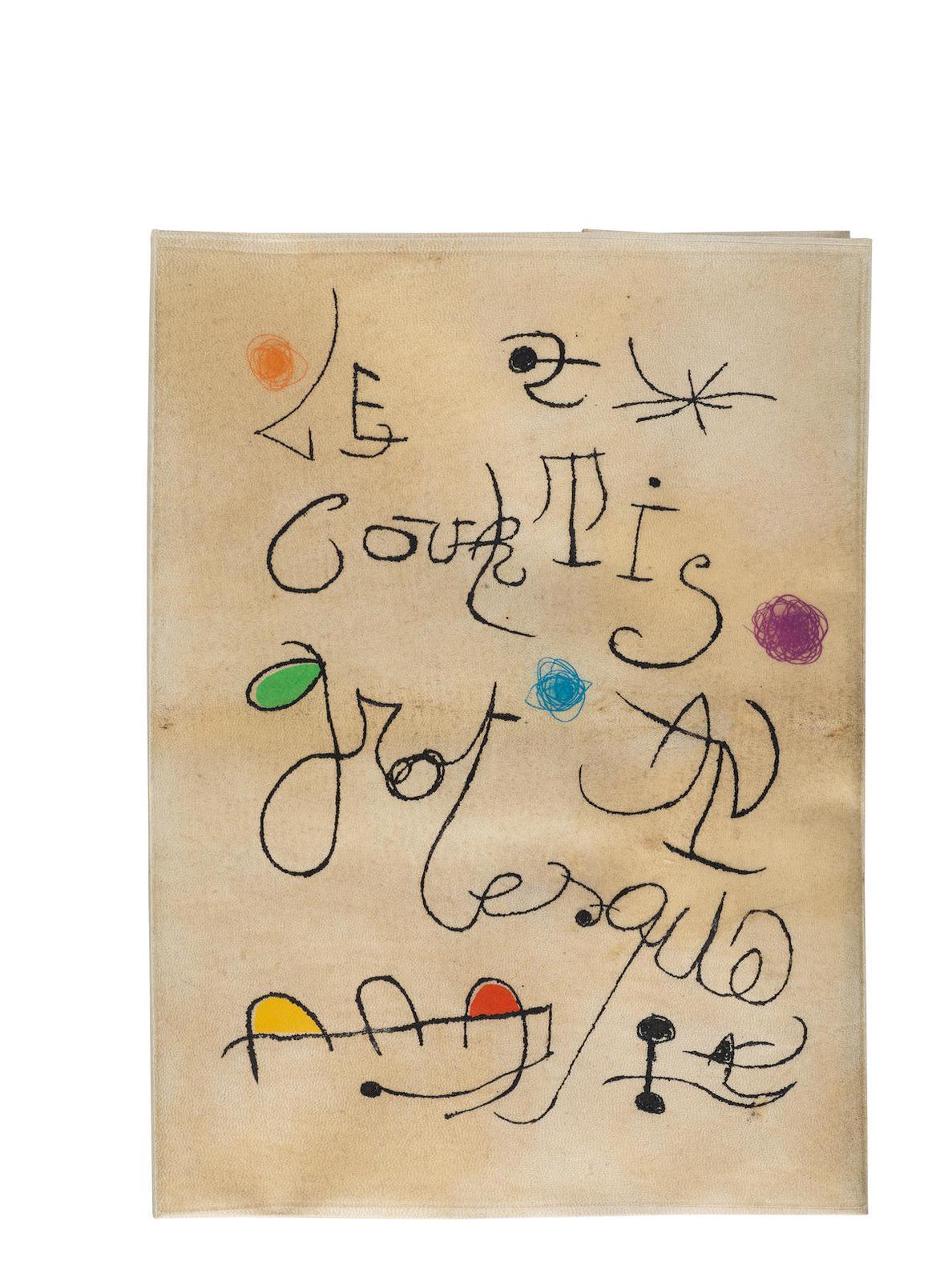 Joan Miro-Adrian De Monluc, Le Courtisan Grotesque, Iliazd, Le Degre 41, Paris, 1974 (Cramer Books182; Dupin 660-675)-1974