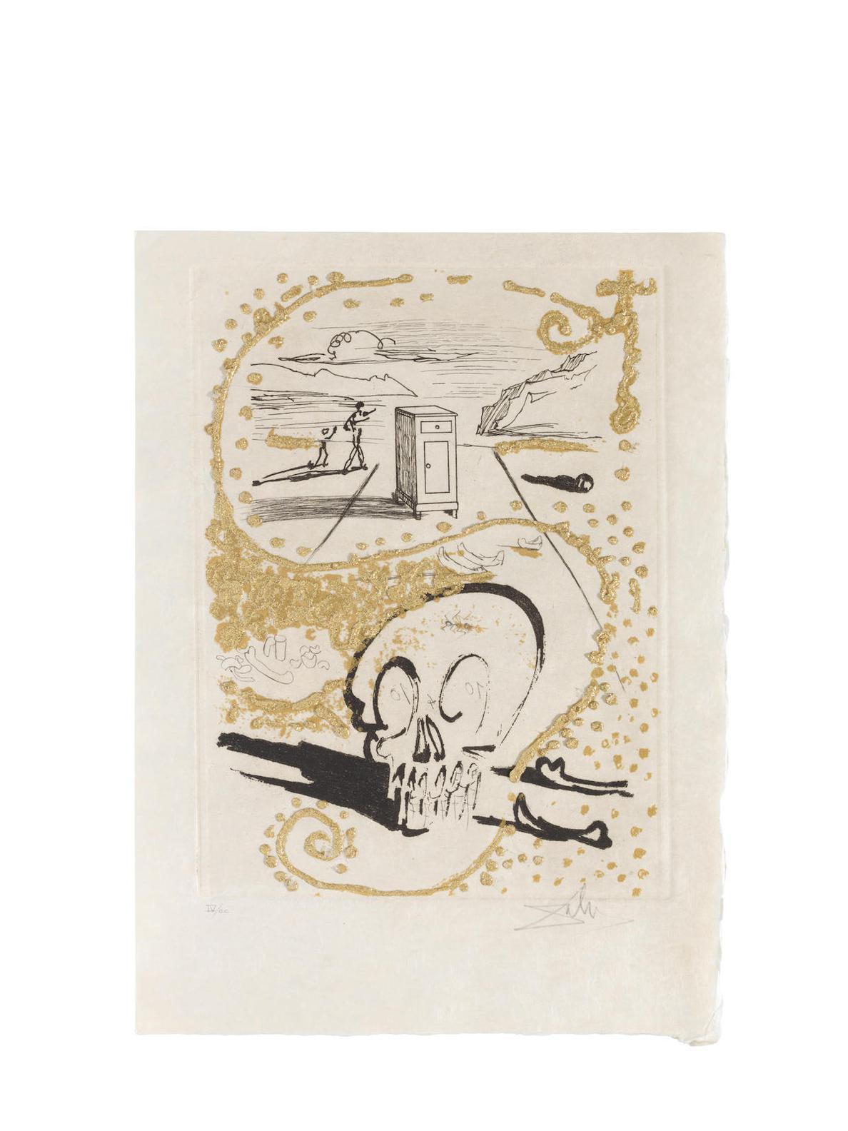 Salvador Dali-Les Amours Jaunes, Editions Pierre Belfond, Paris, 1974 (Michel Et Lopsinger 693-702; Field 74-15)-1974