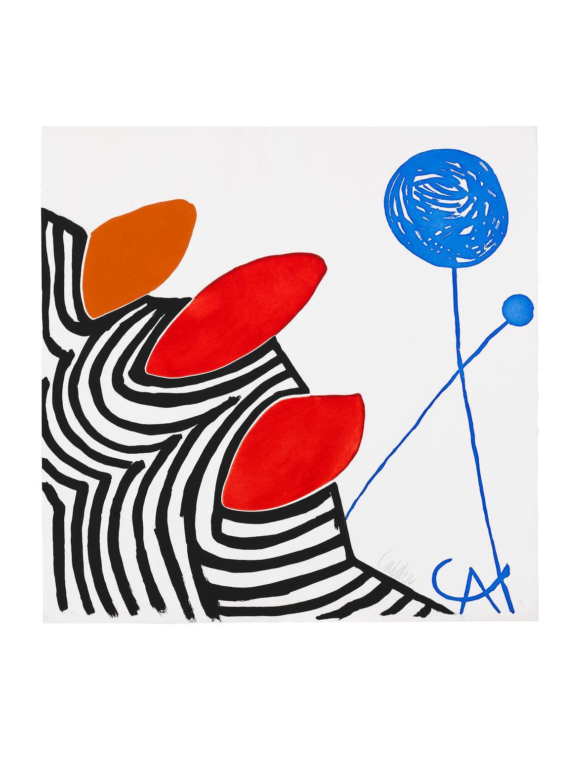 Alexander Calder-Presenza Grafica-1972