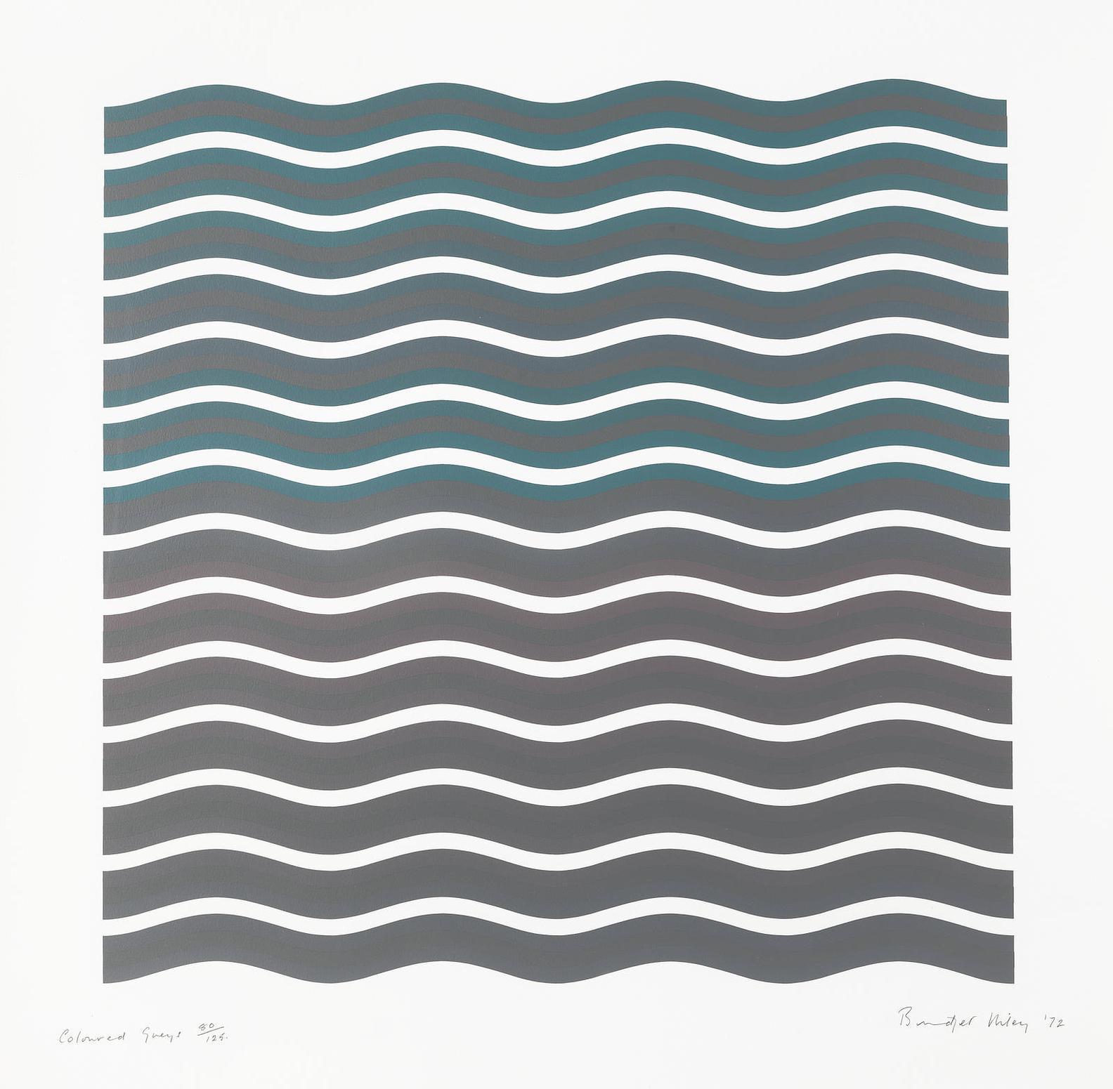 Bridget Riley-Coloured Greys [2] (Schubert 17)-1972