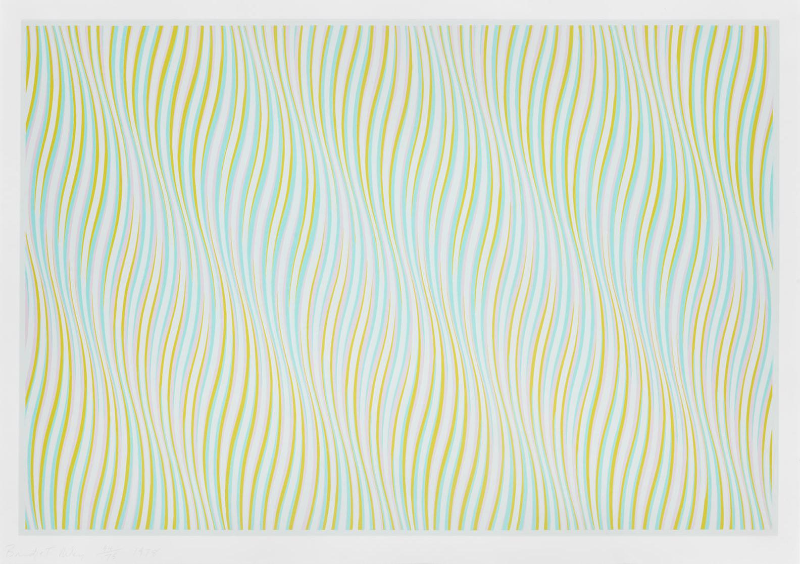 Bridget Riley-Untitled (Blue) (Schubert 25)-1978