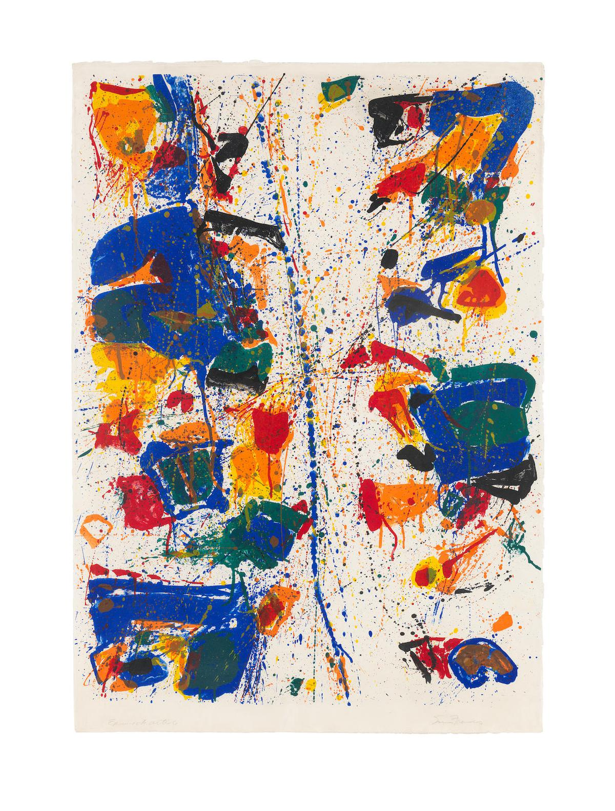 Sam Francis-The White Line (Lembark L6; Sf-6)-1960