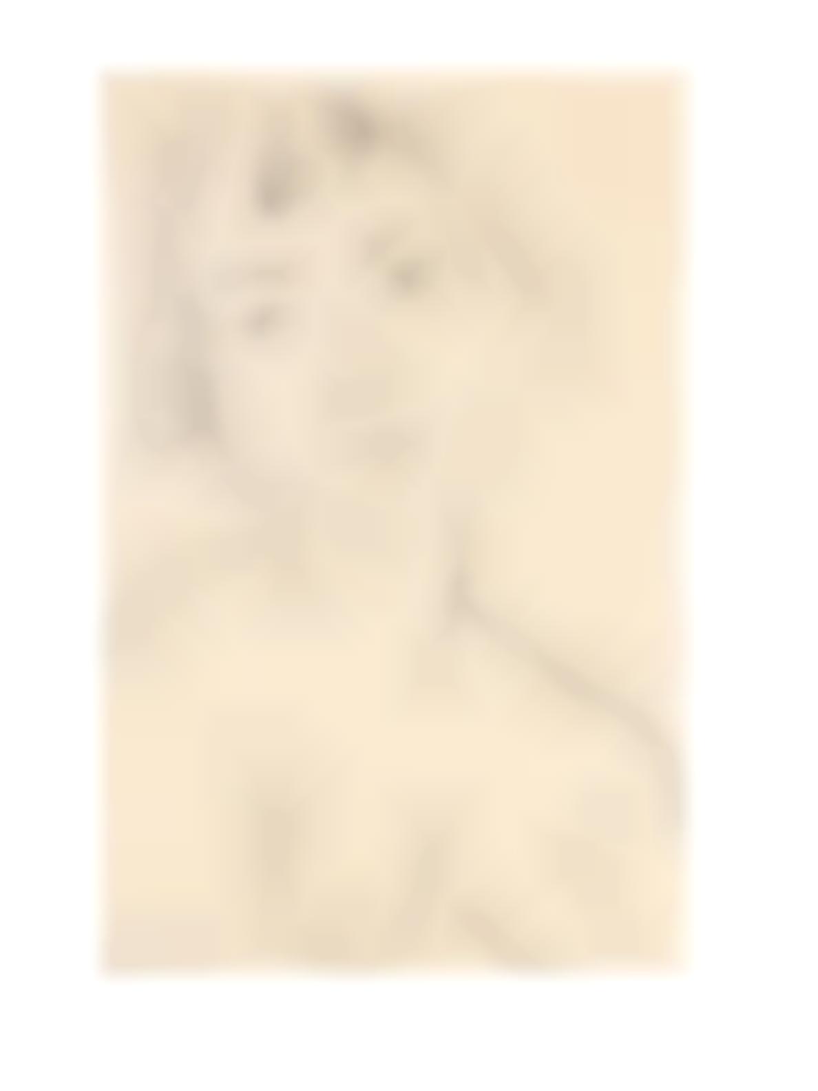 Henri Matisse-Visage Legerement Penche Vers La Gauche (Duthuit 414)-1913