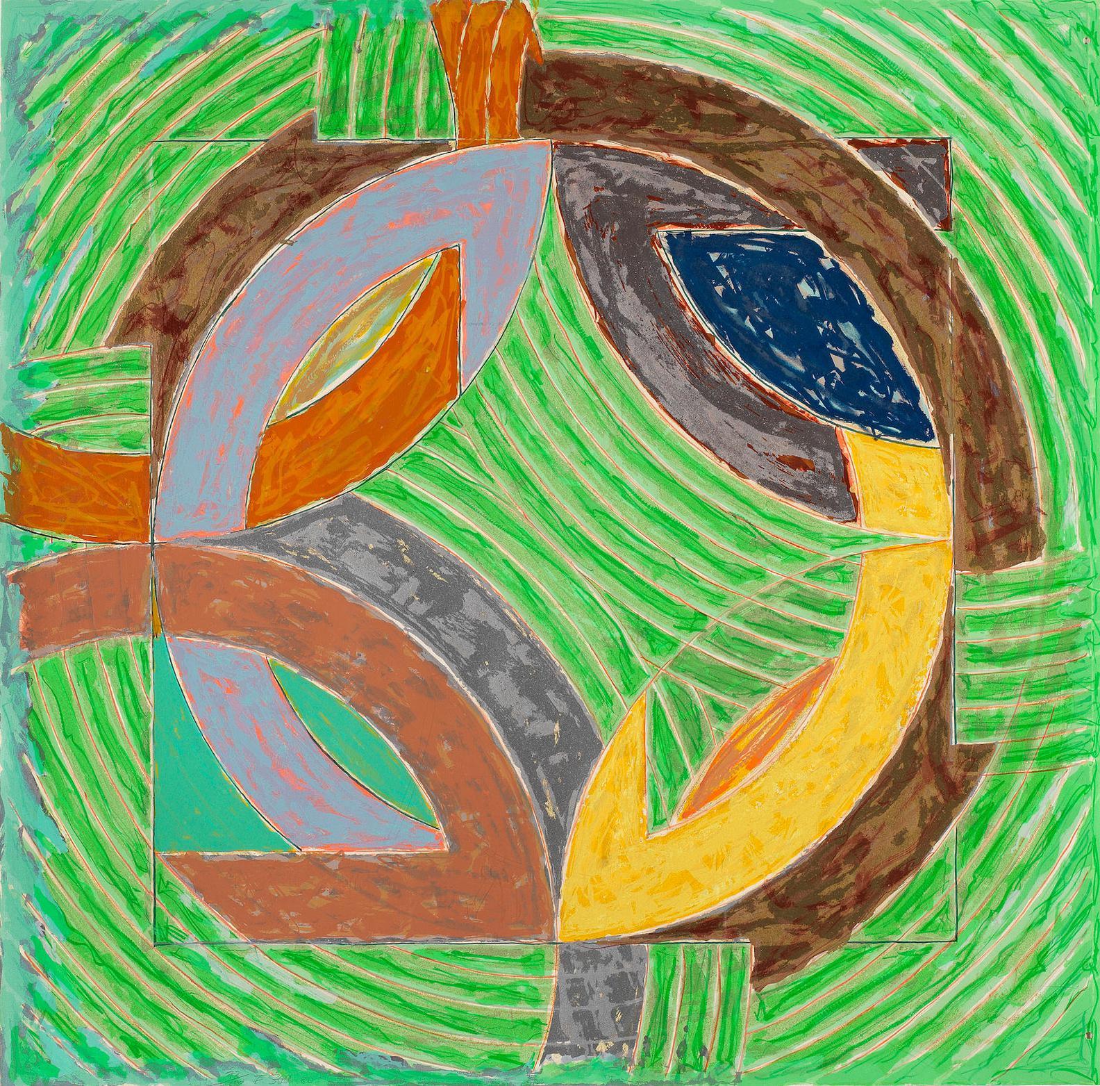 Frank Stella-Polar Co-Ordinates IV (Axsom 122)-1980