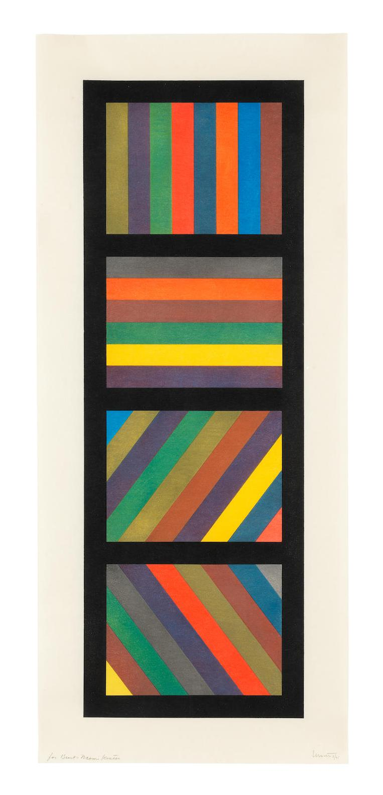 Sol LeWitt-Bands Of Lines In Four Directions (Vertical) (Lewitt 1994.04)-1995