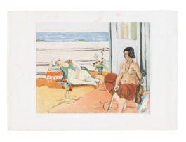 Henri Matisse-After Henri Matisse - Odalisque Sur La Terrasse (Ginestet & Poillon E.633; Duthuit P. 354 I)-1922