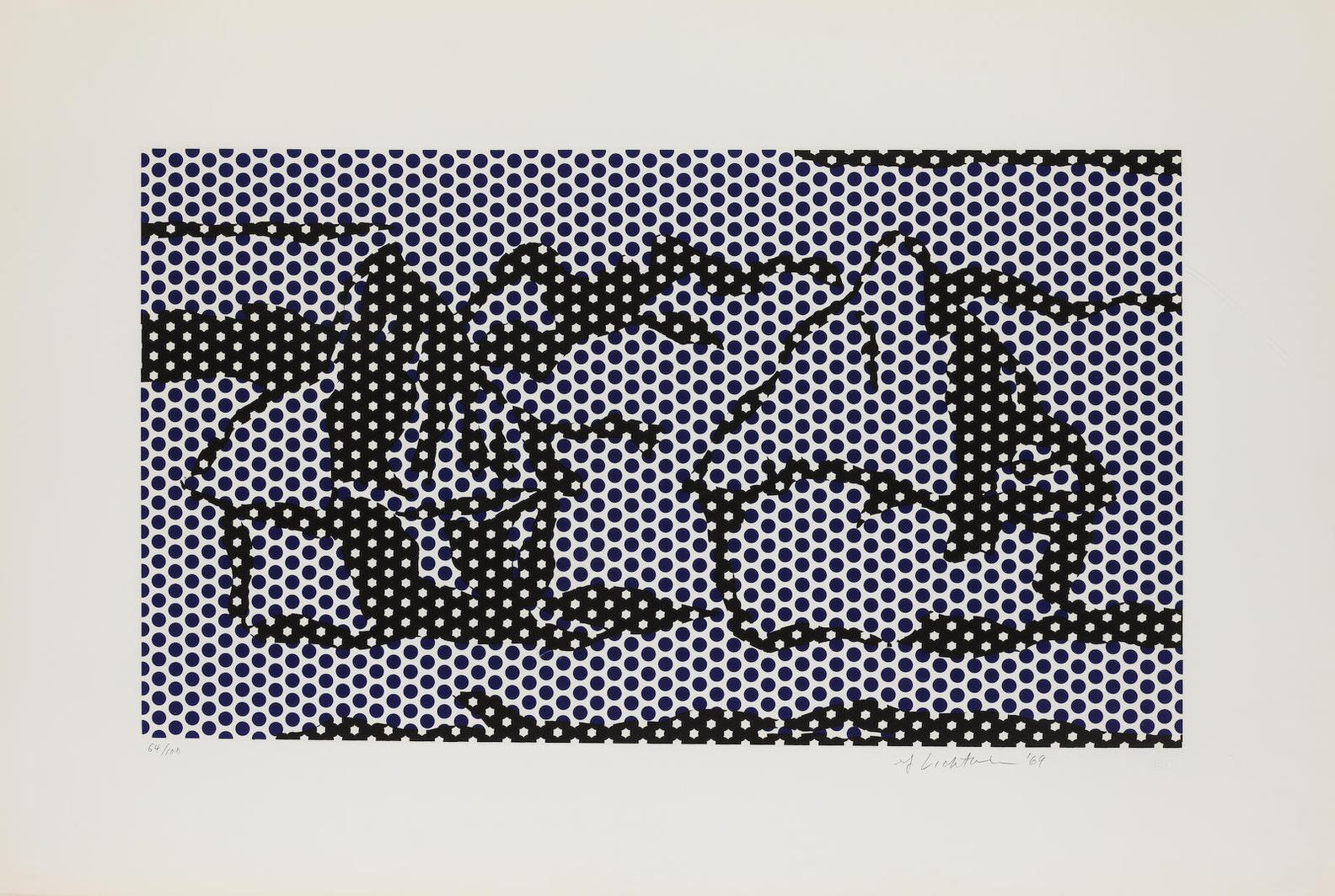 Roy Lichtenstein-Haystack 3 (Corlett 67)-1969