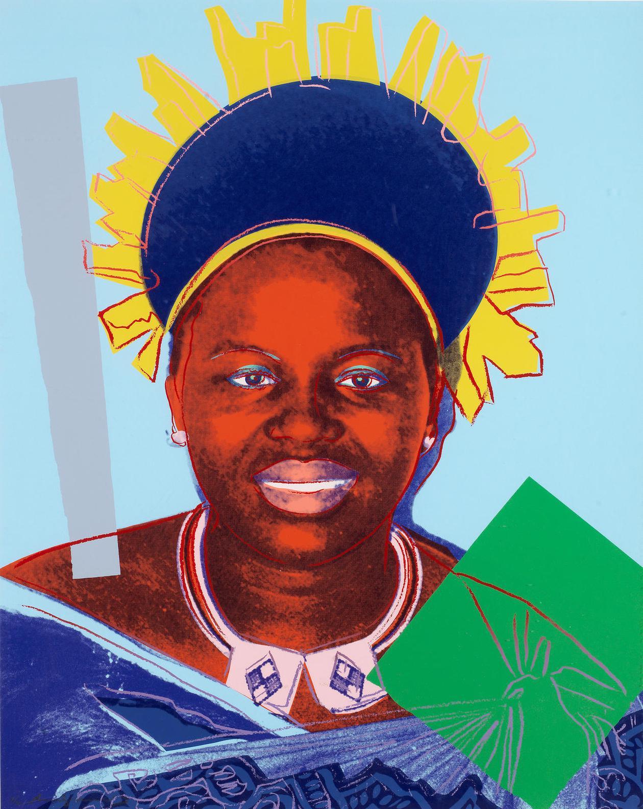 Andy Warhol-Queen Ntombi Twala Of Swaziland, From Reigning Queens(Feldman & Schellmann II.347)-1985