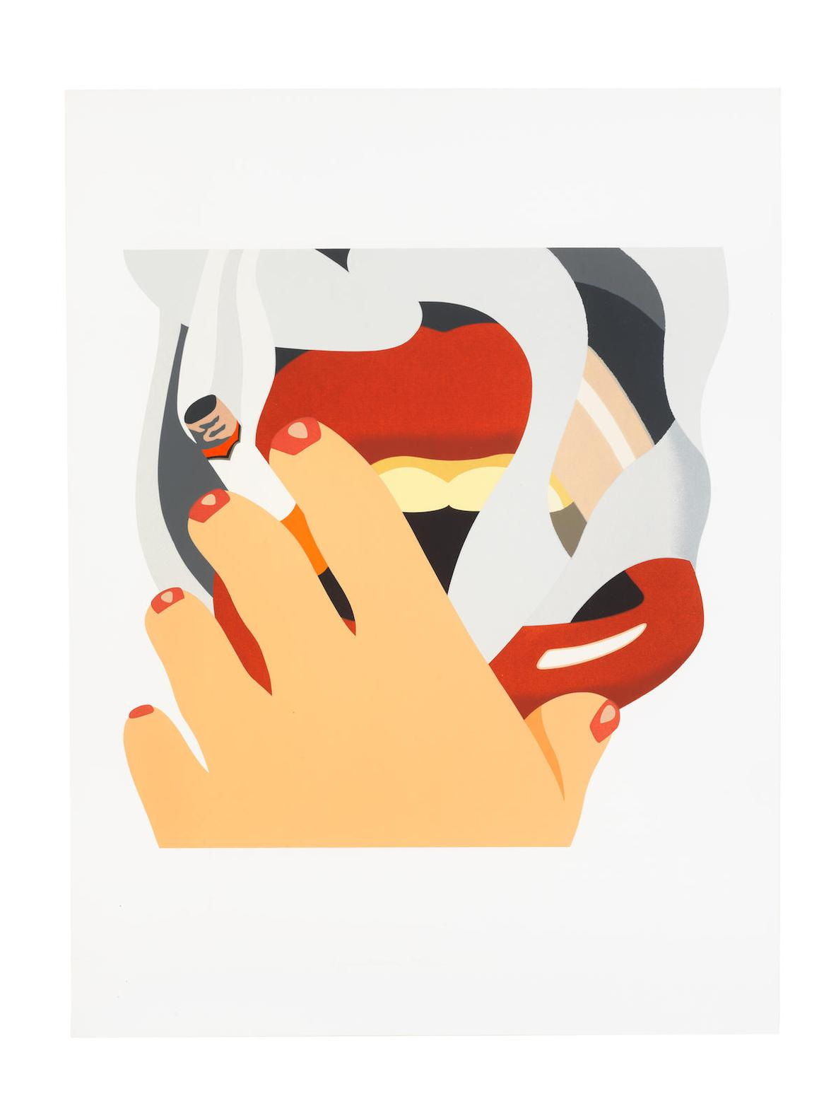 Tom Wesselmann-Smoker, From An American Portrait-1976