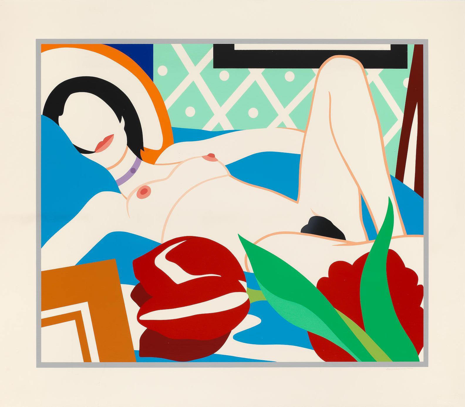 Tom Wesselmann-Monica With Tulips-1989