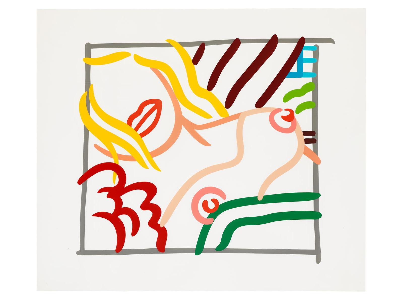 Tom Wesselmann-New Bedroom Blonde Doodle-1991