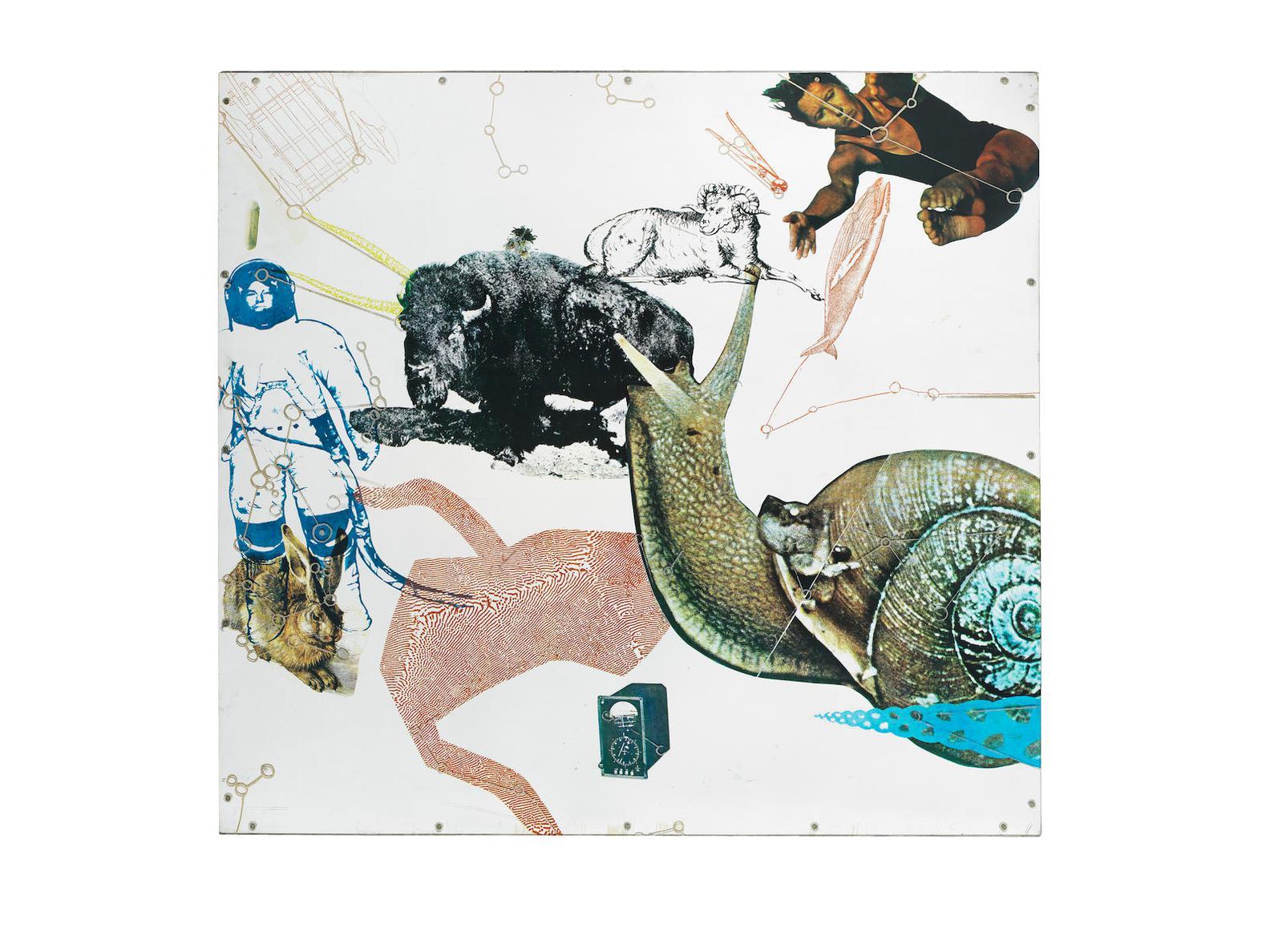 Robert Rauschenberg-Star Quarters III-1971