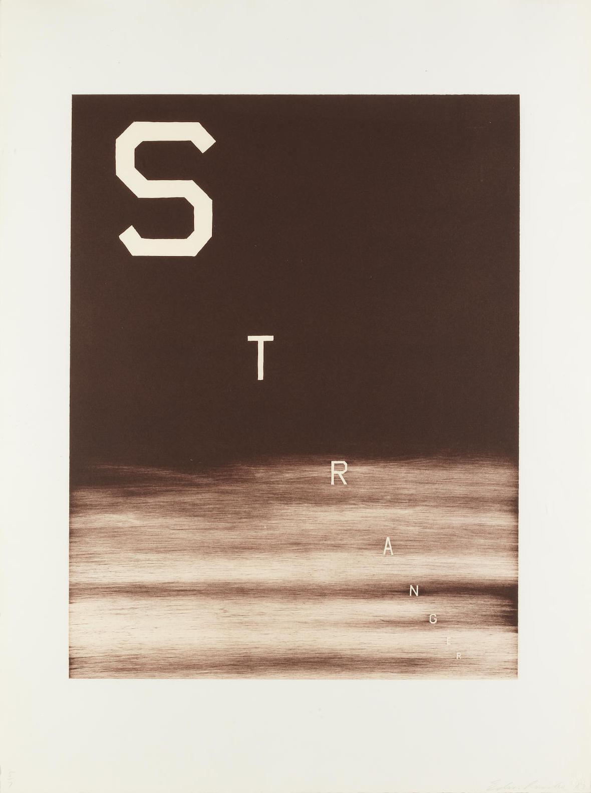 Ed Ruscha-Stranger(Enberg 135)-1983