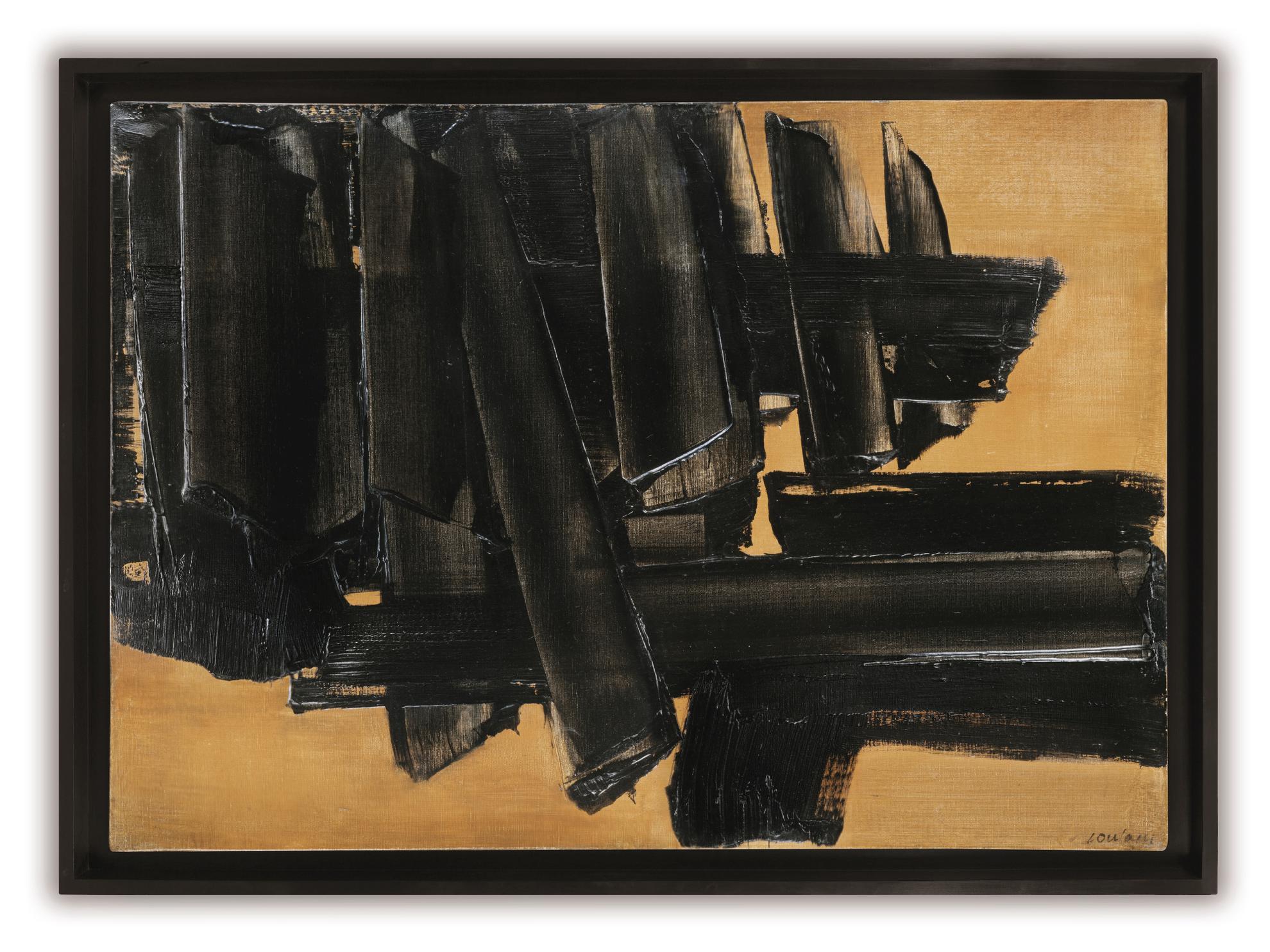 Pierre Soulages-Peinture 65 X 92 Cm, 26 Octobre 1961-1961
