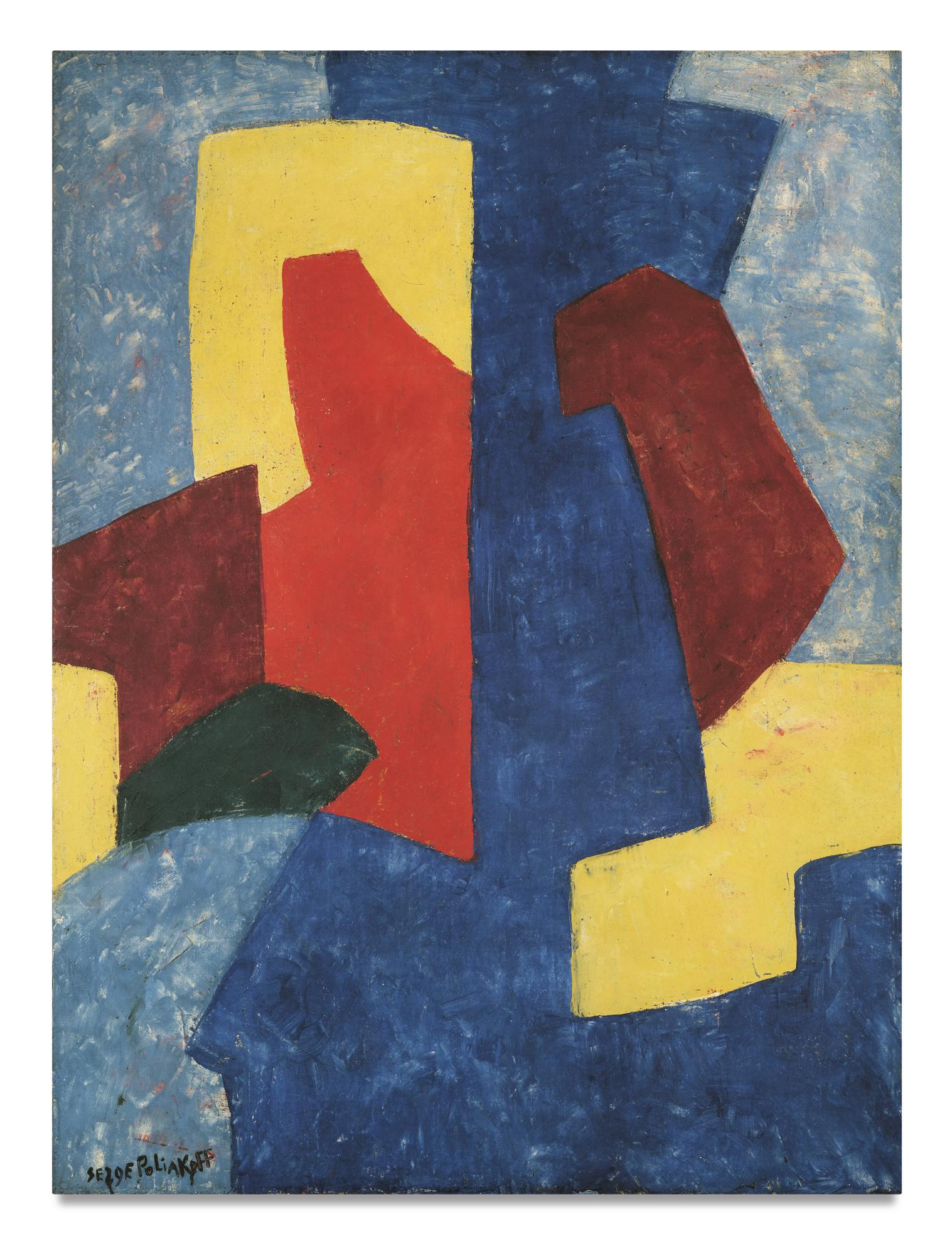 Serge Poliakoff-Composition Abstraite-1969