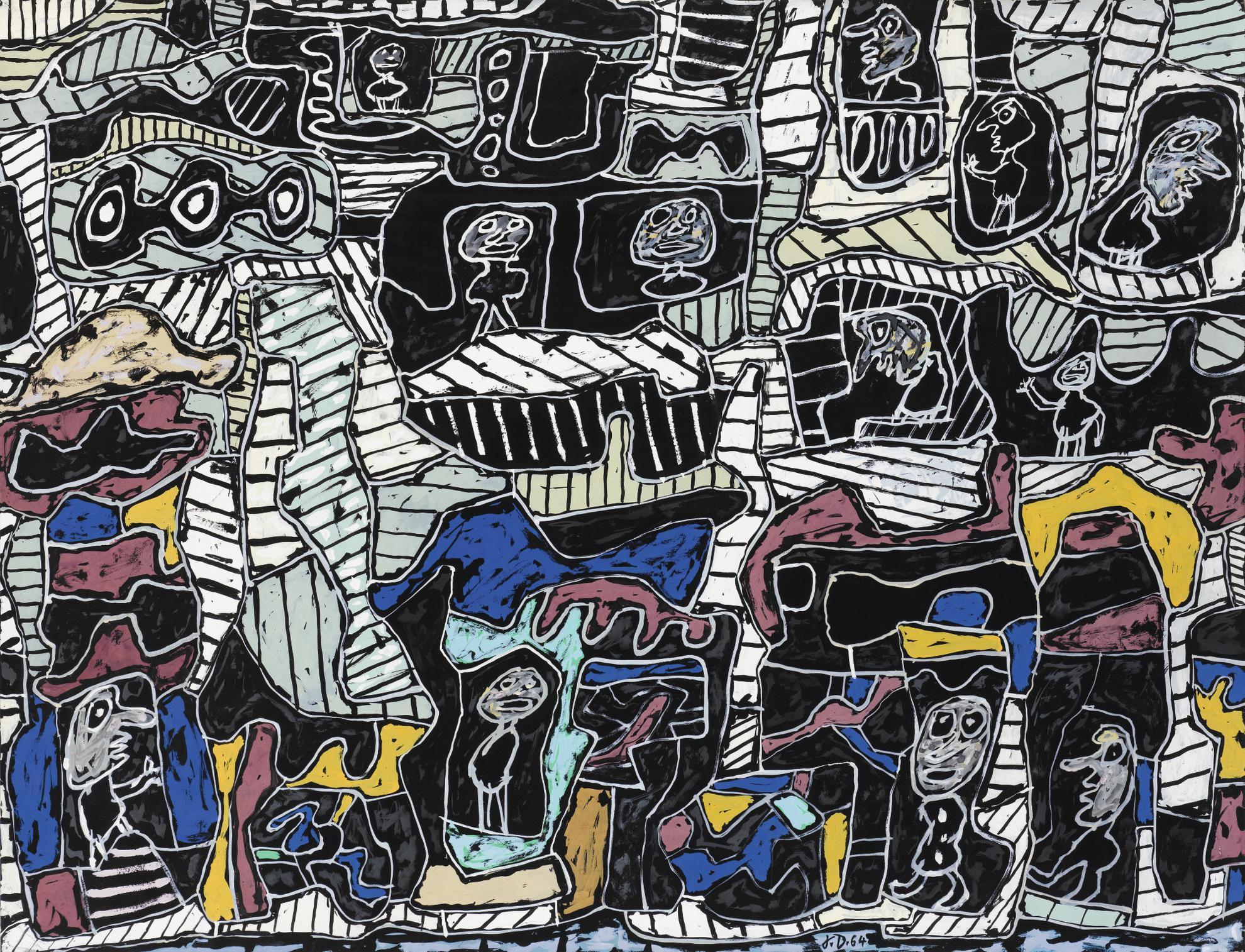 Jean Dubuffet-Paris Plaisir VI-1964