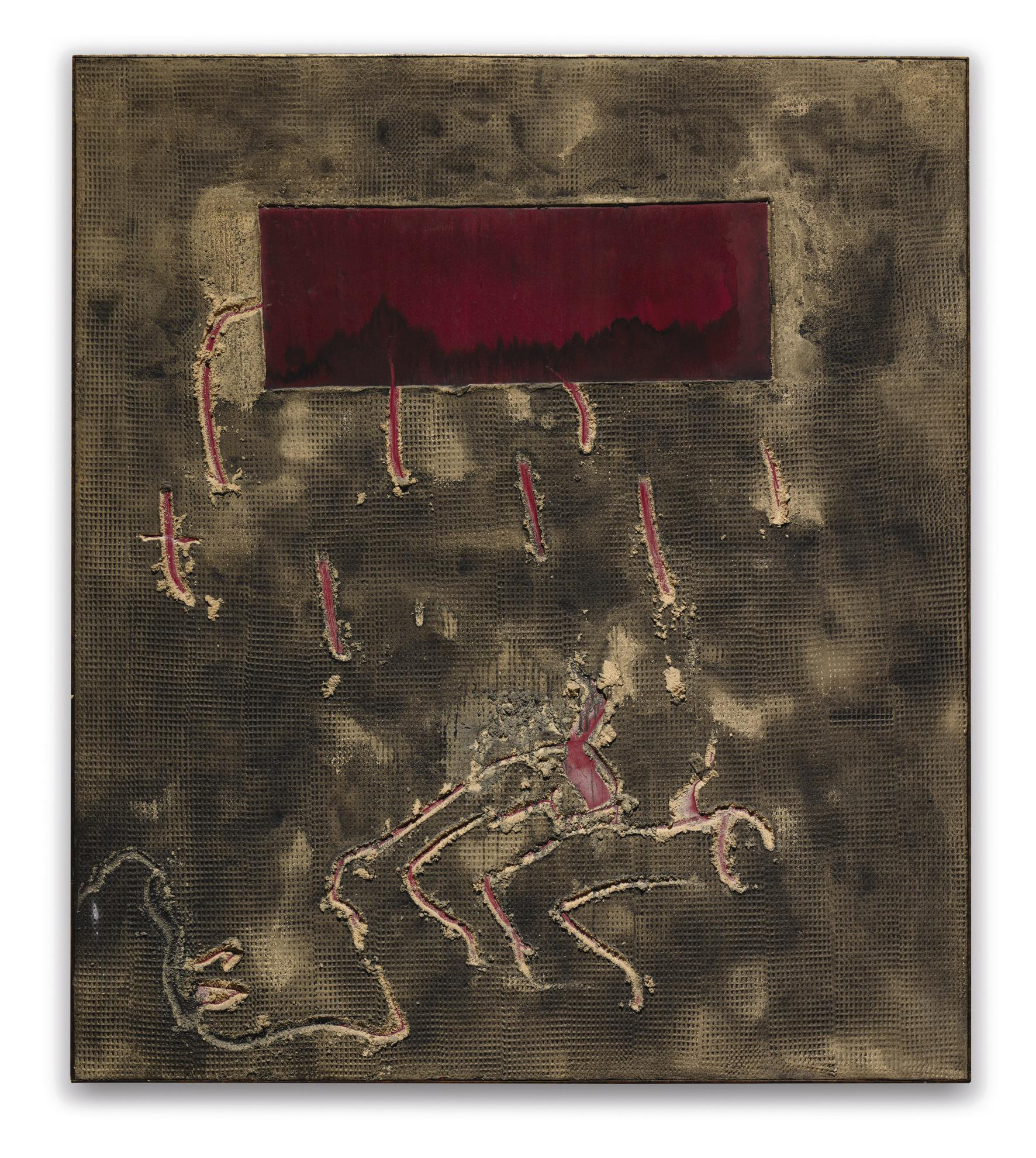 Antoni Tapies-Rectangle Vermell-2003
