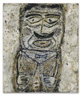 Jean Dubuffet-Portrait Dhomme Moustachu Facon Carton Pate-1946