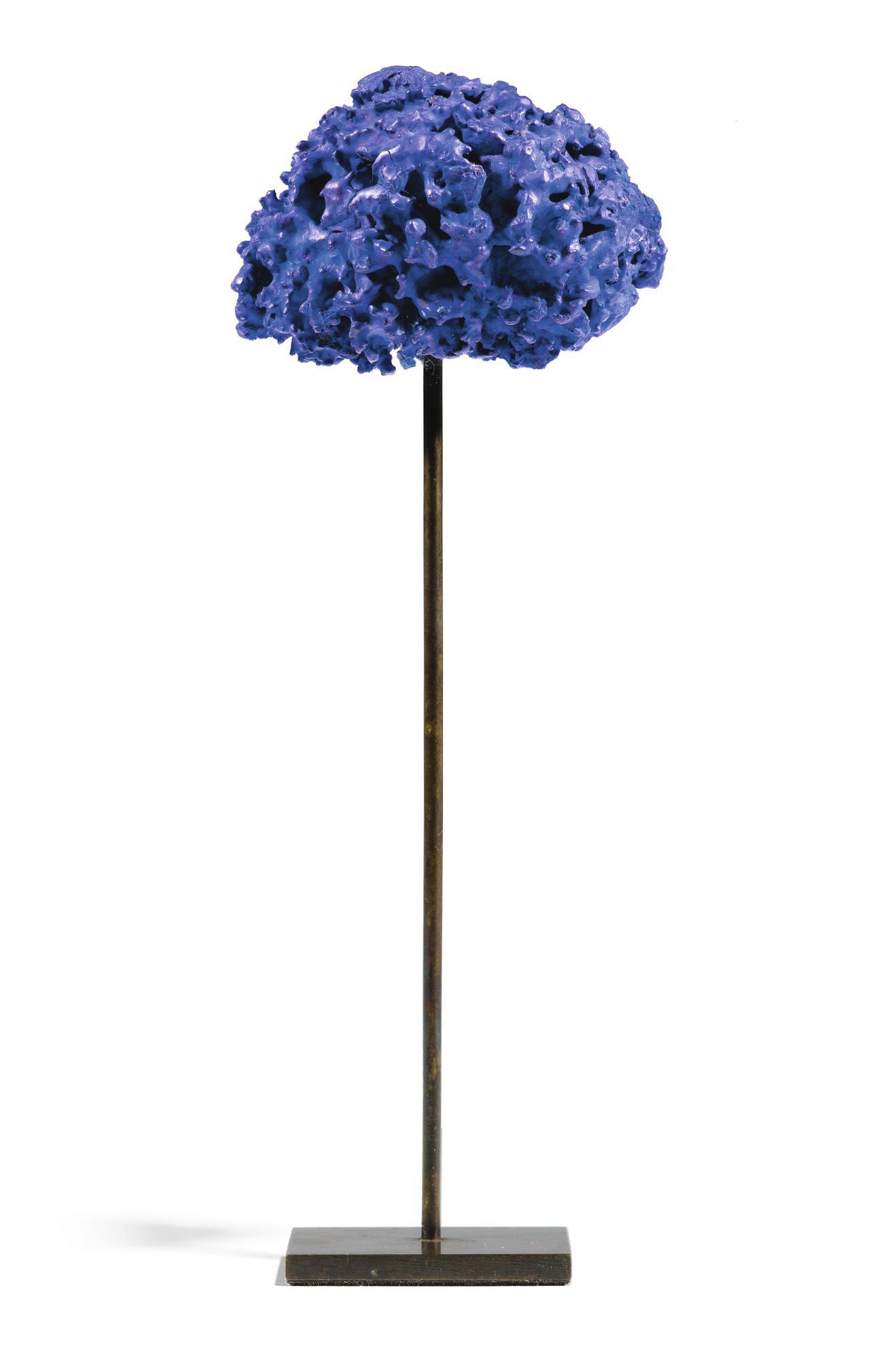 Yves Klein-Sculpture-Blue Sponge, Untitled (Se 320)-1961