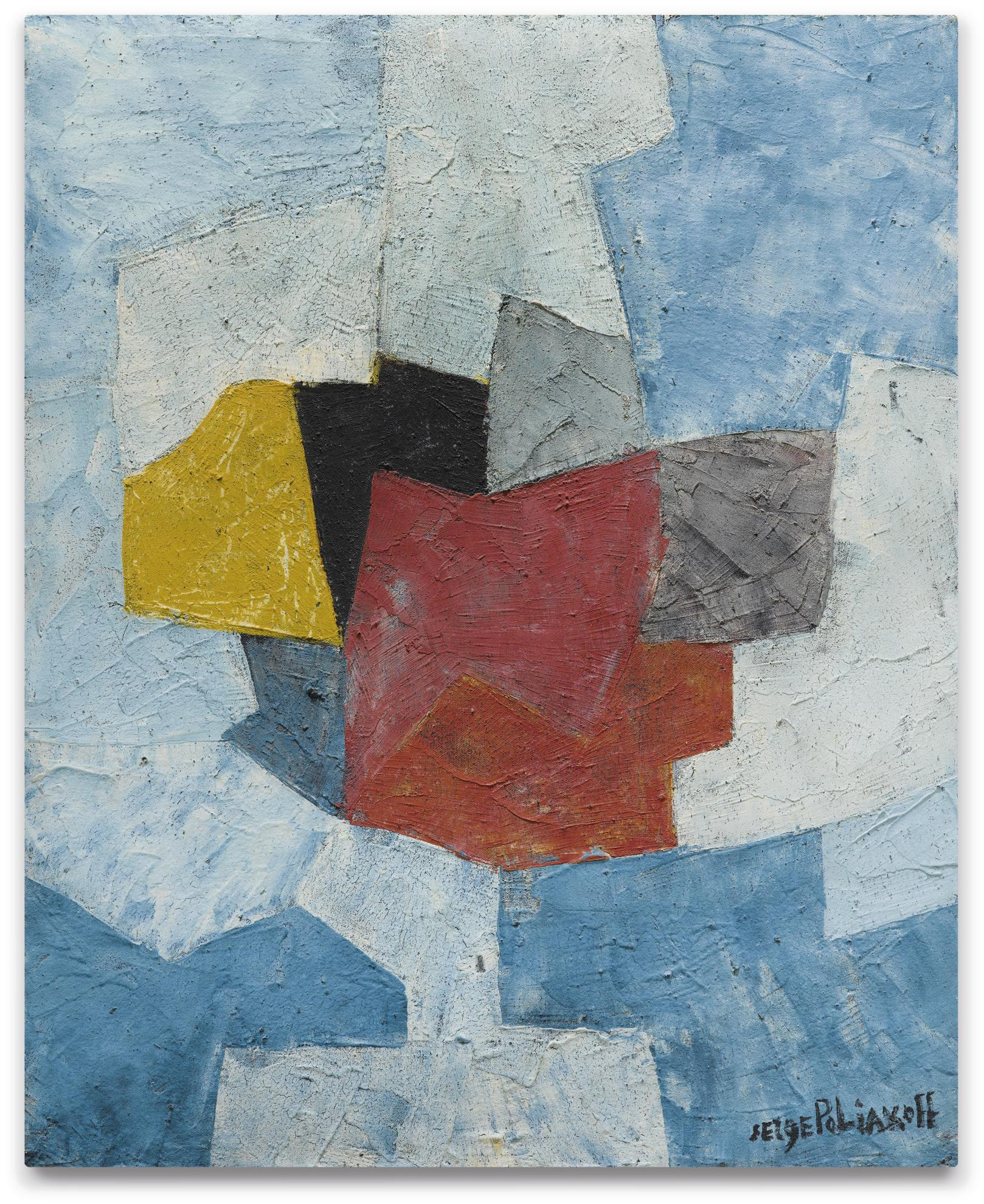 Serge Poliakoff-Composition Abstraite-1956