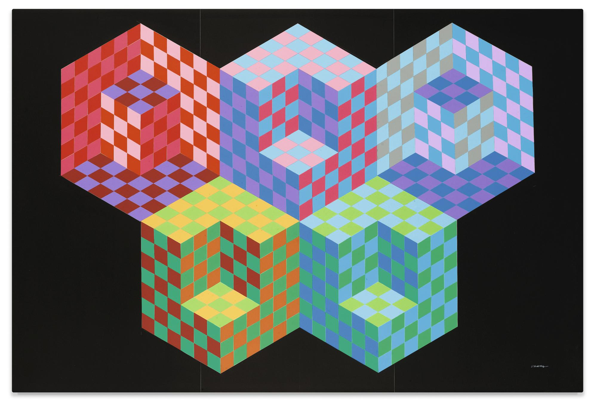 Victor Vasarely-Untitled-1985