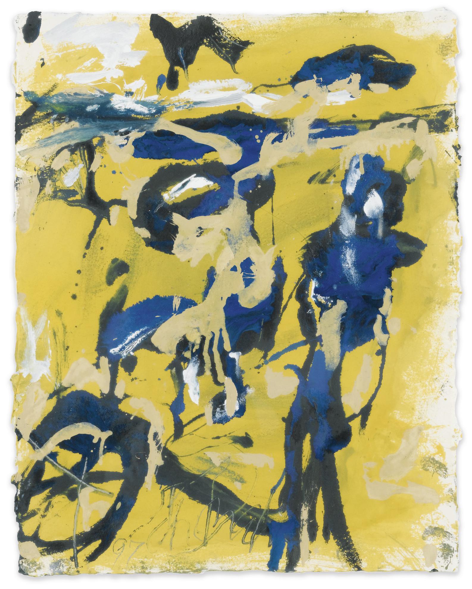 Emil Schumacher-Untitled-1997