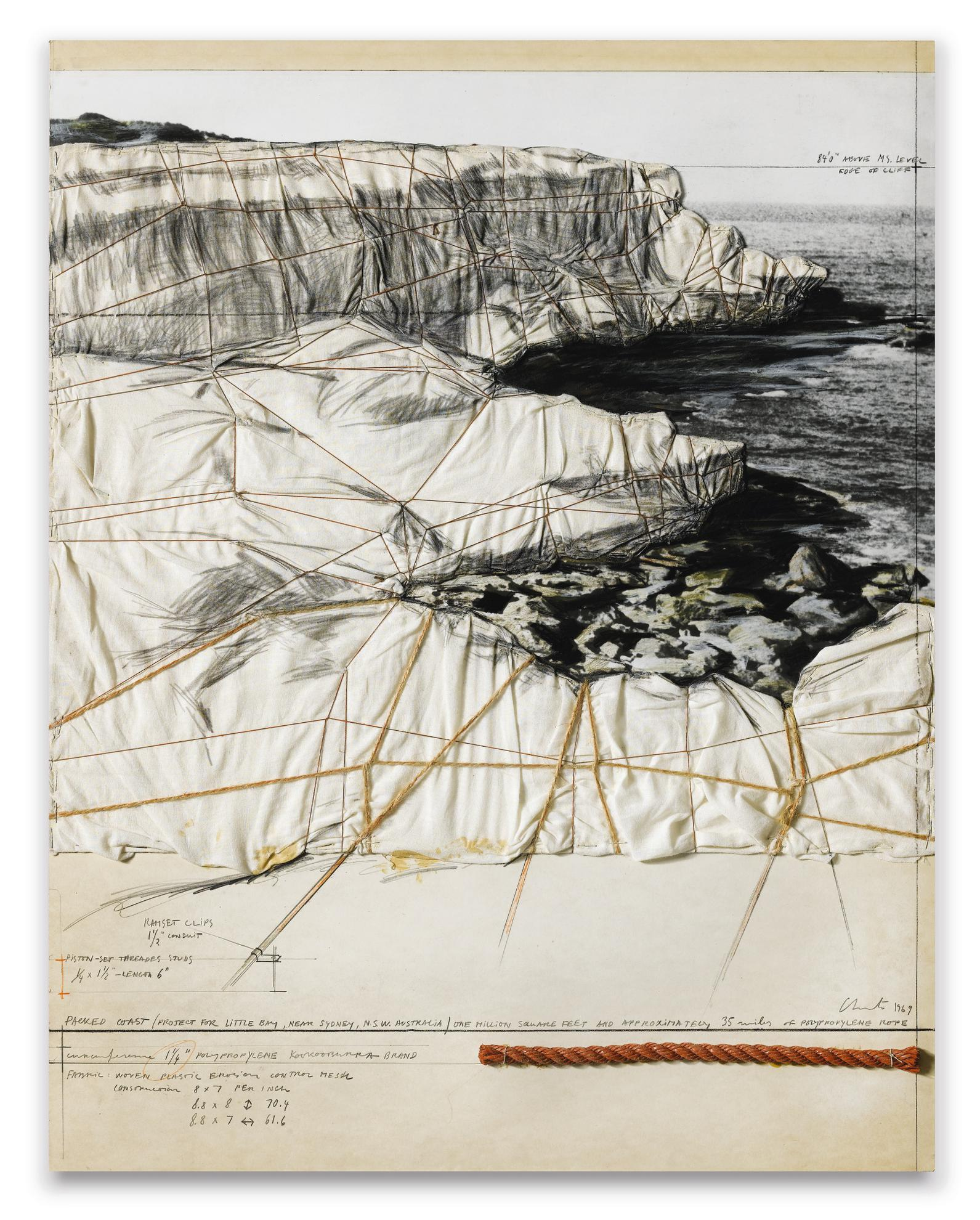 Christo and Jeanne-Claude-Packed Coast (Project For Little Bay, Near Sydney, N.S.W. Australia)-1969