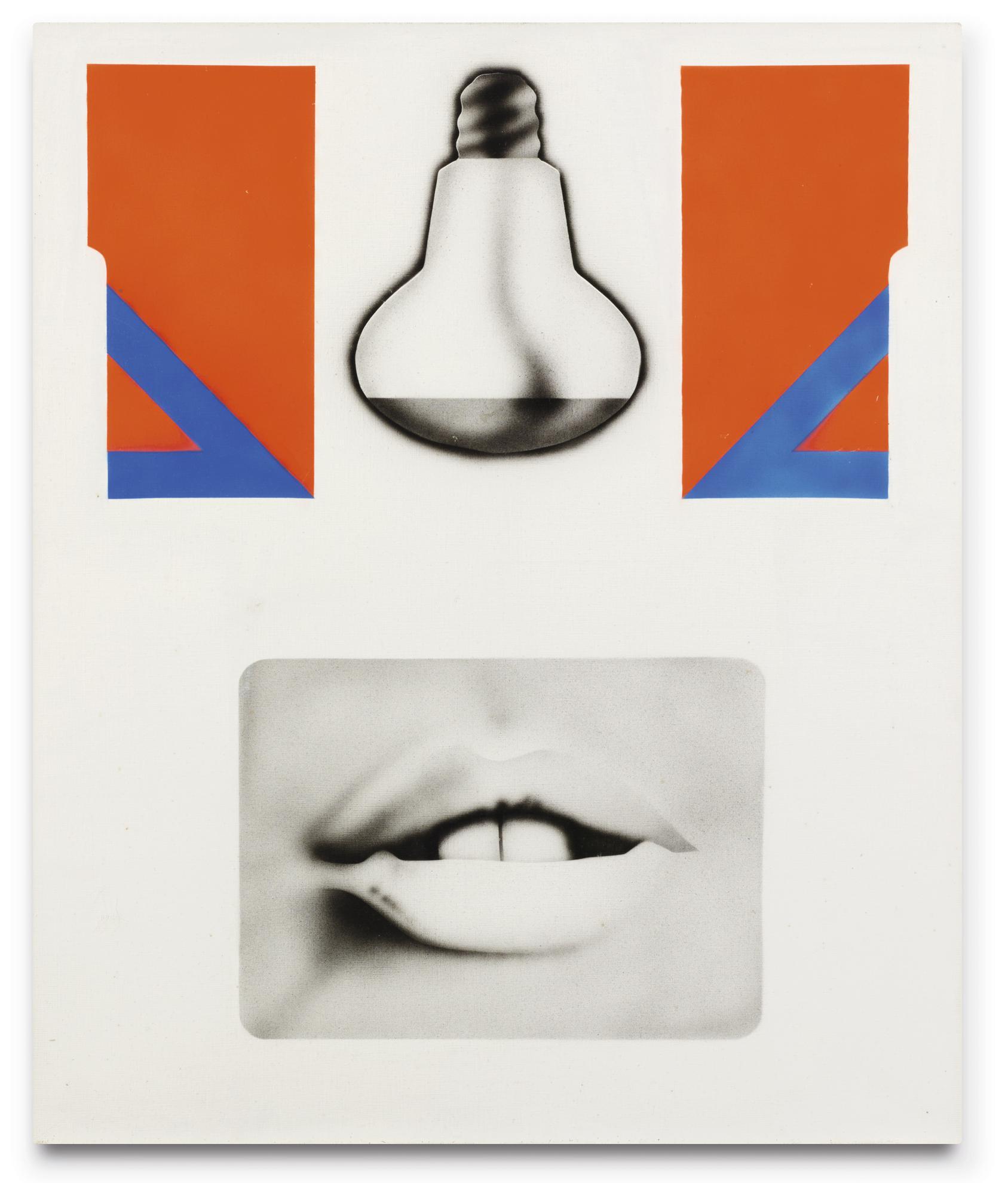Peter Klasen-Bouche Ouverte Et Ampoule-1969
