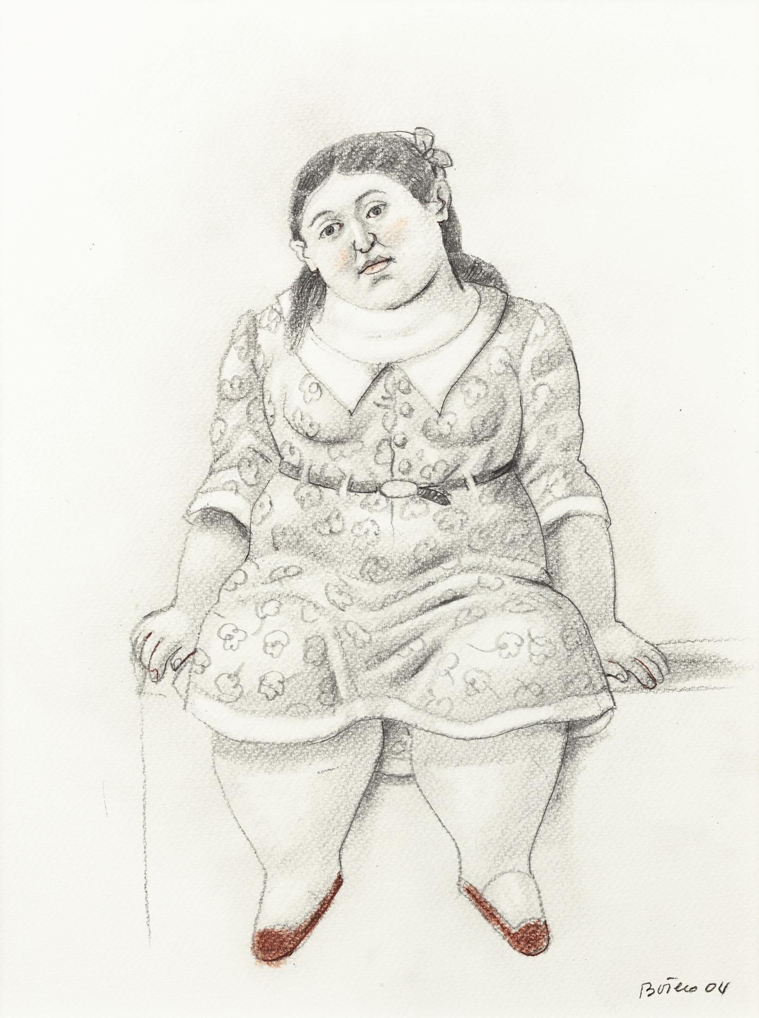 Fernando Botero-Jeune Femme Assise-2004