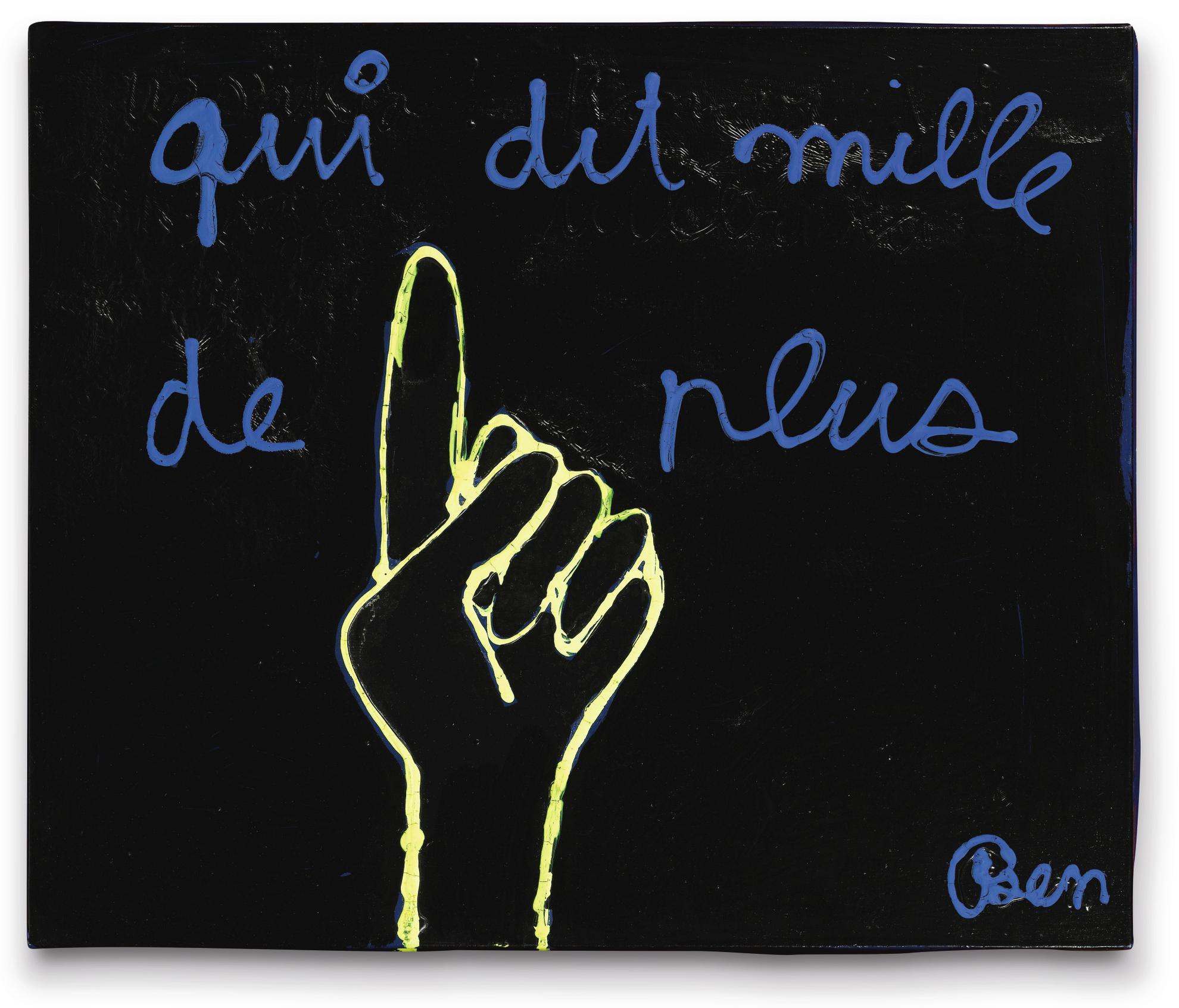 Ben Vautier-Qui Dit Mille De Plus-1986