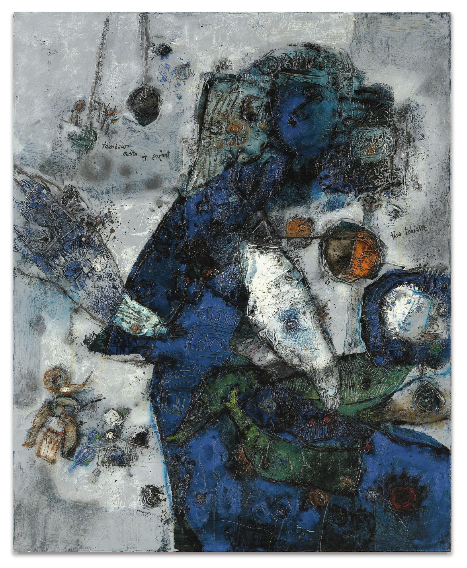 Theo Tobiasse-Tambour, Mere Et Enfant-1962